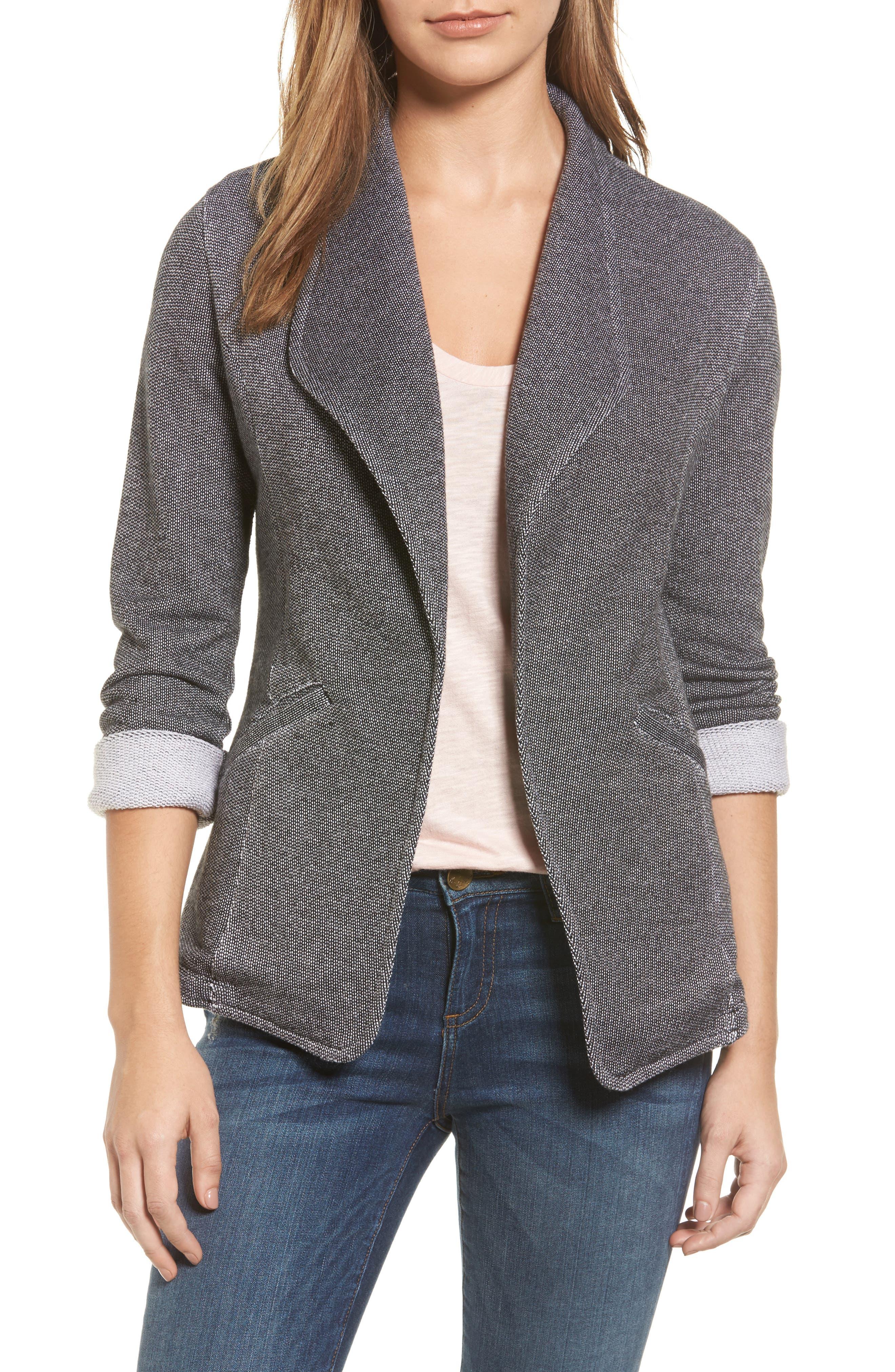 Caslon® Knit Blazer (Regular & Petite)