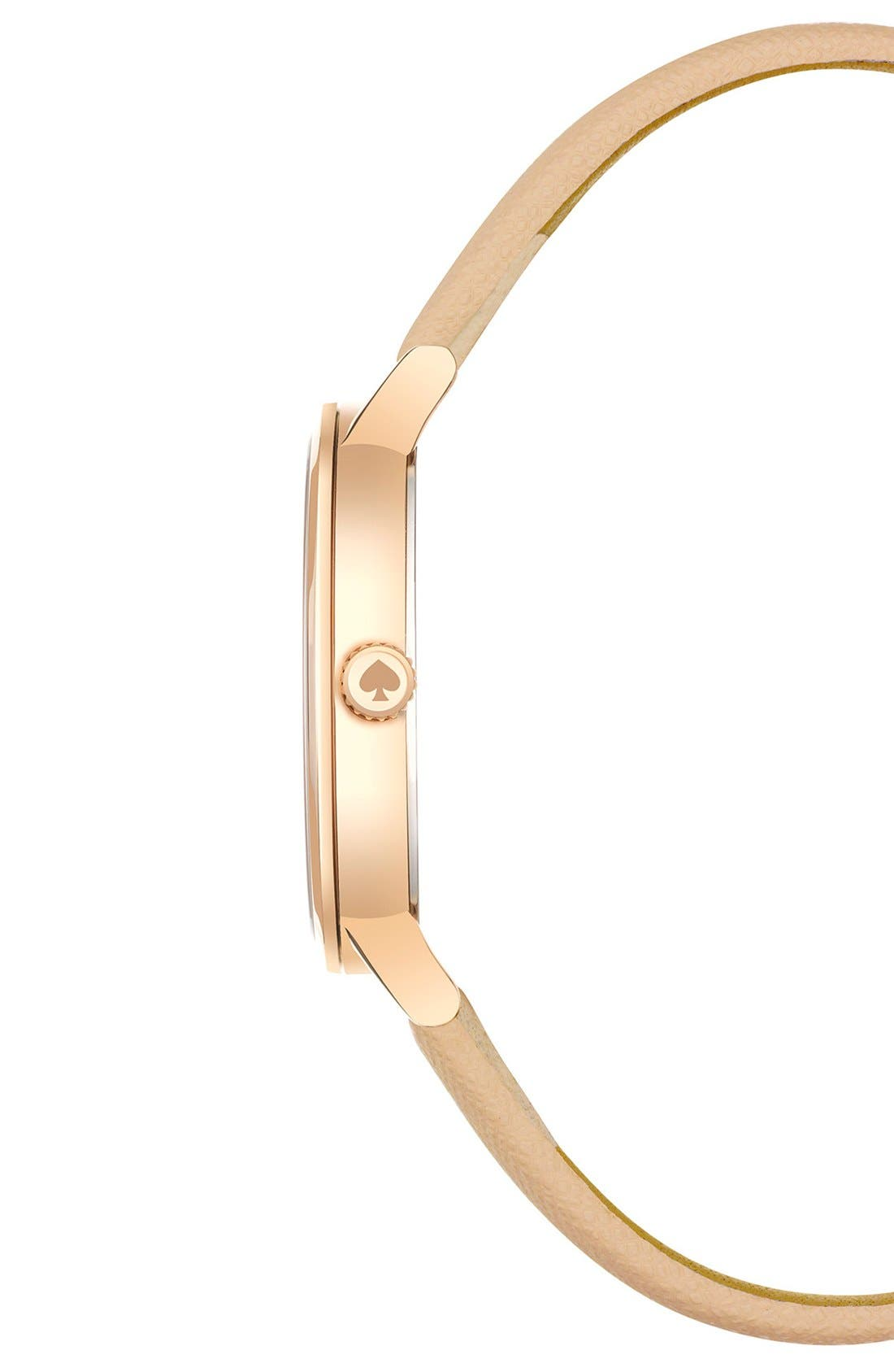 Alternate Image 3  - kate spade new york 'metro' dot dial leather strap watch, 34mm