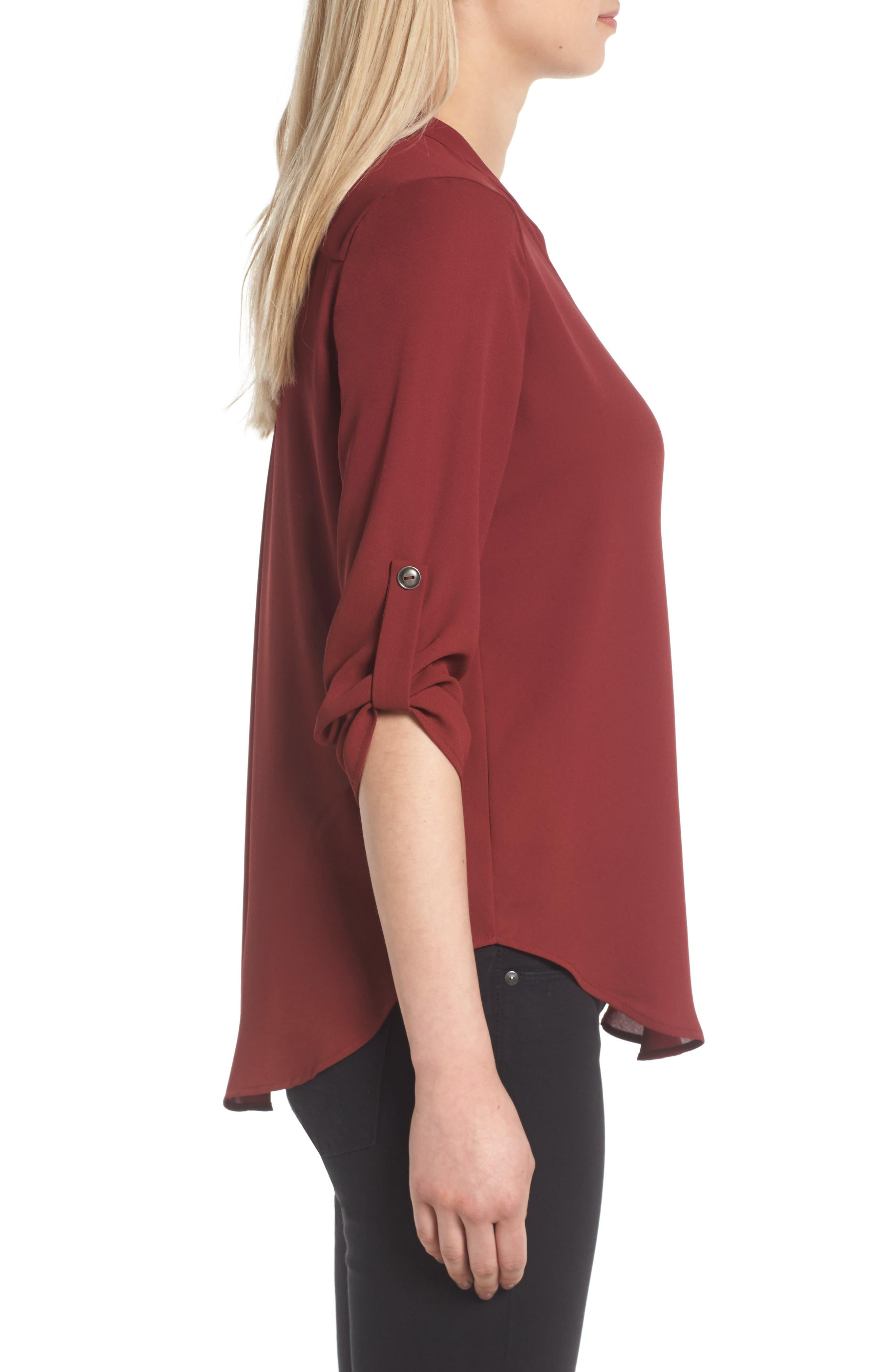 Alternate Image 3  - Lush Roll Tab Sleeve Woven Shirt