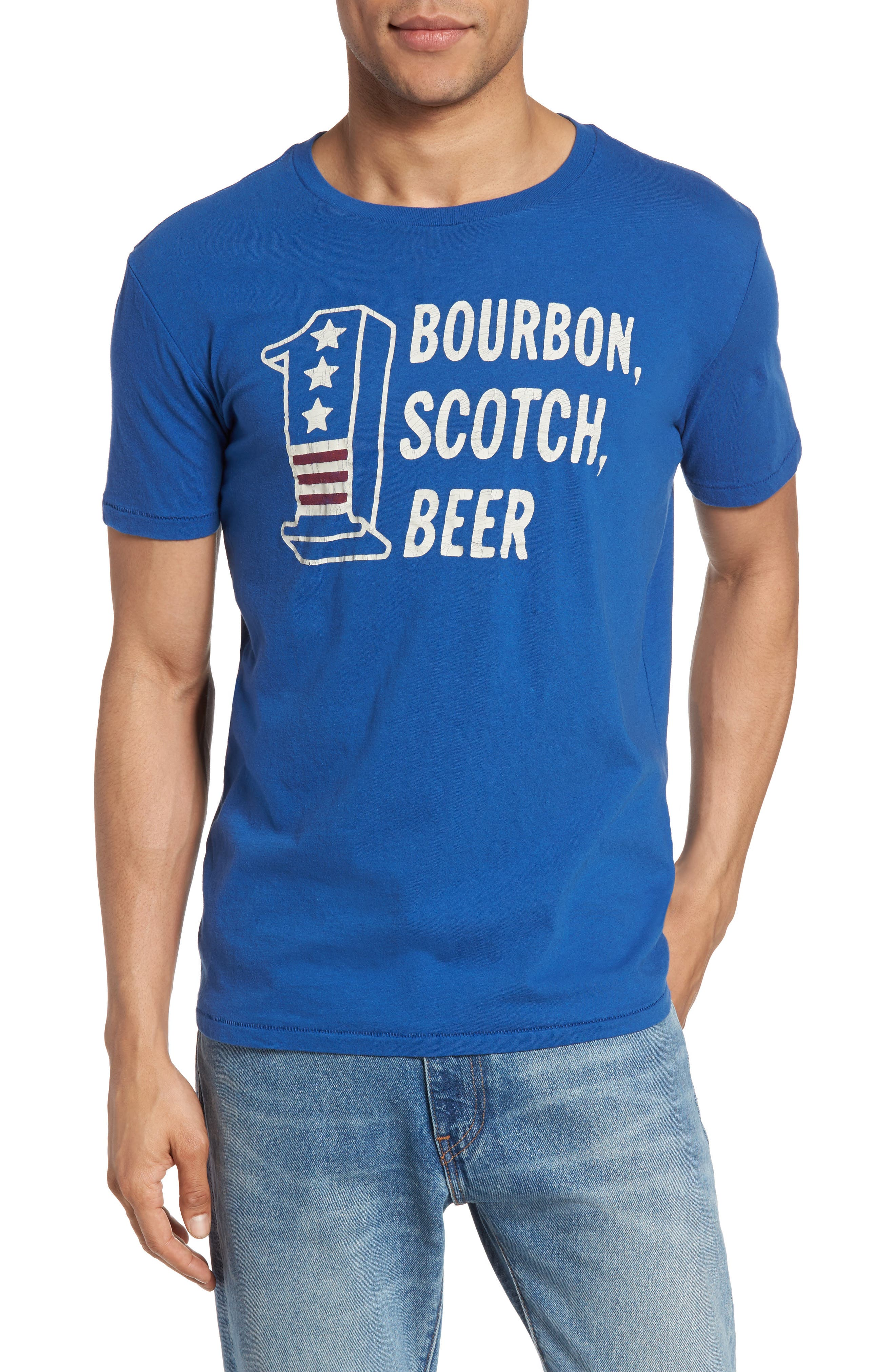 Lucky Brand Bourbon Scotch Beer T-Shirt