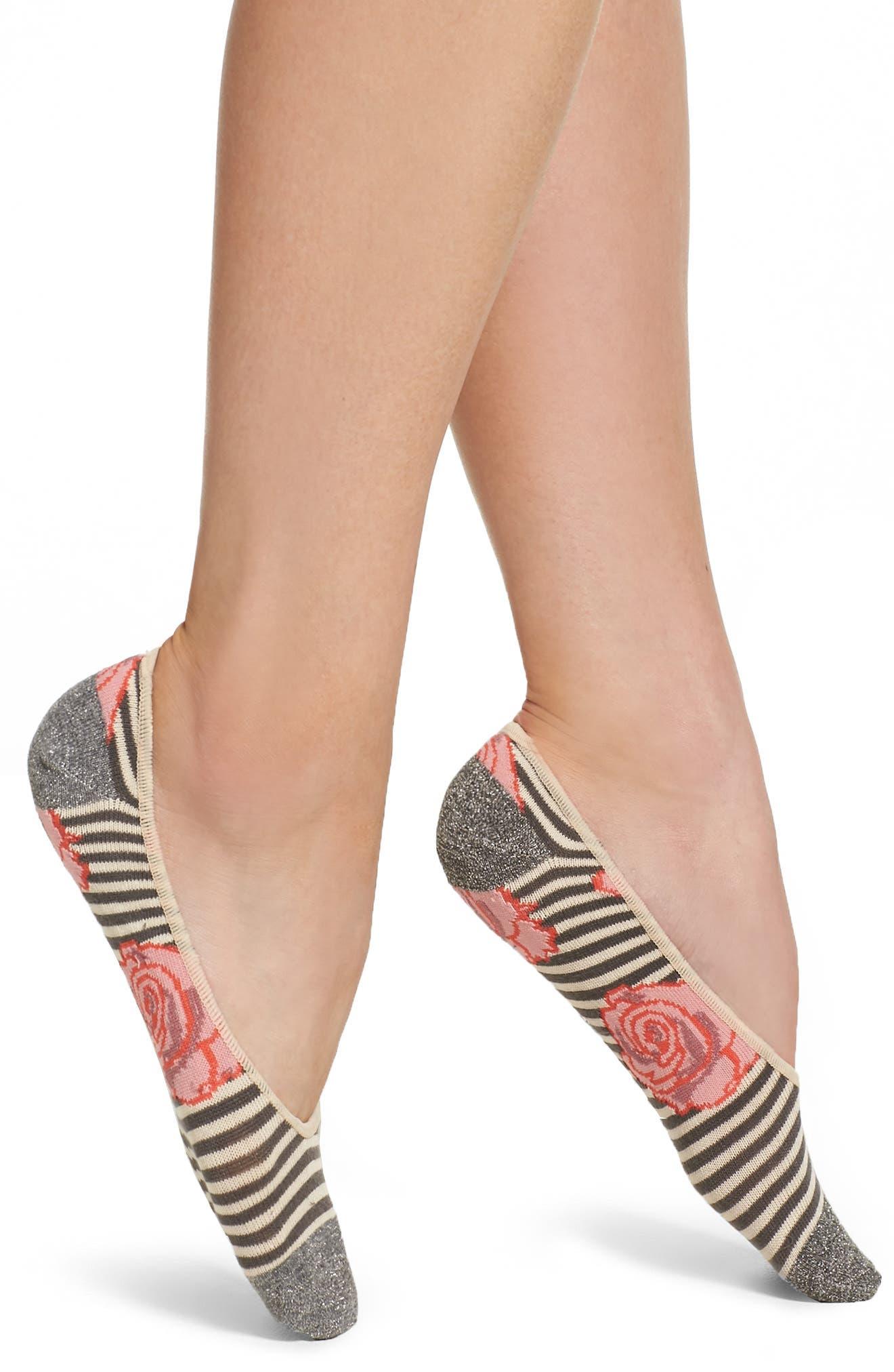 Peony & Moss Blooms Liner Socks