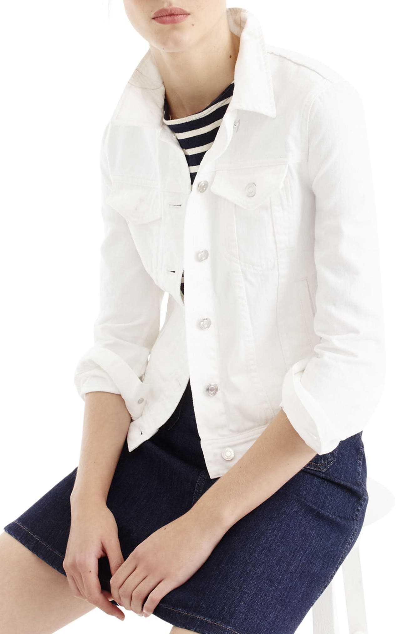 J.Crew White Denim Jacket (Regular & Petite)