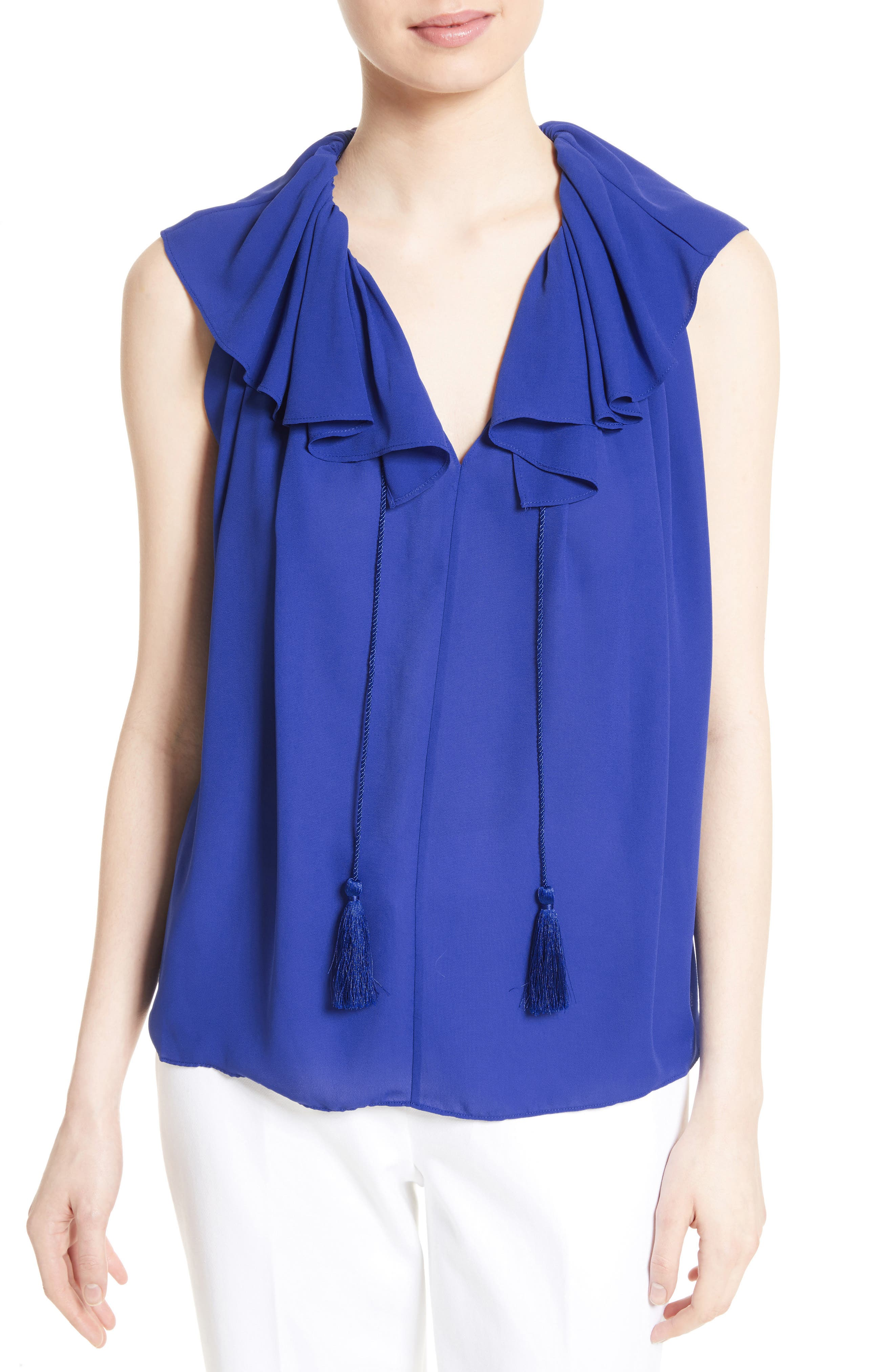 kate spade new york tie neck top