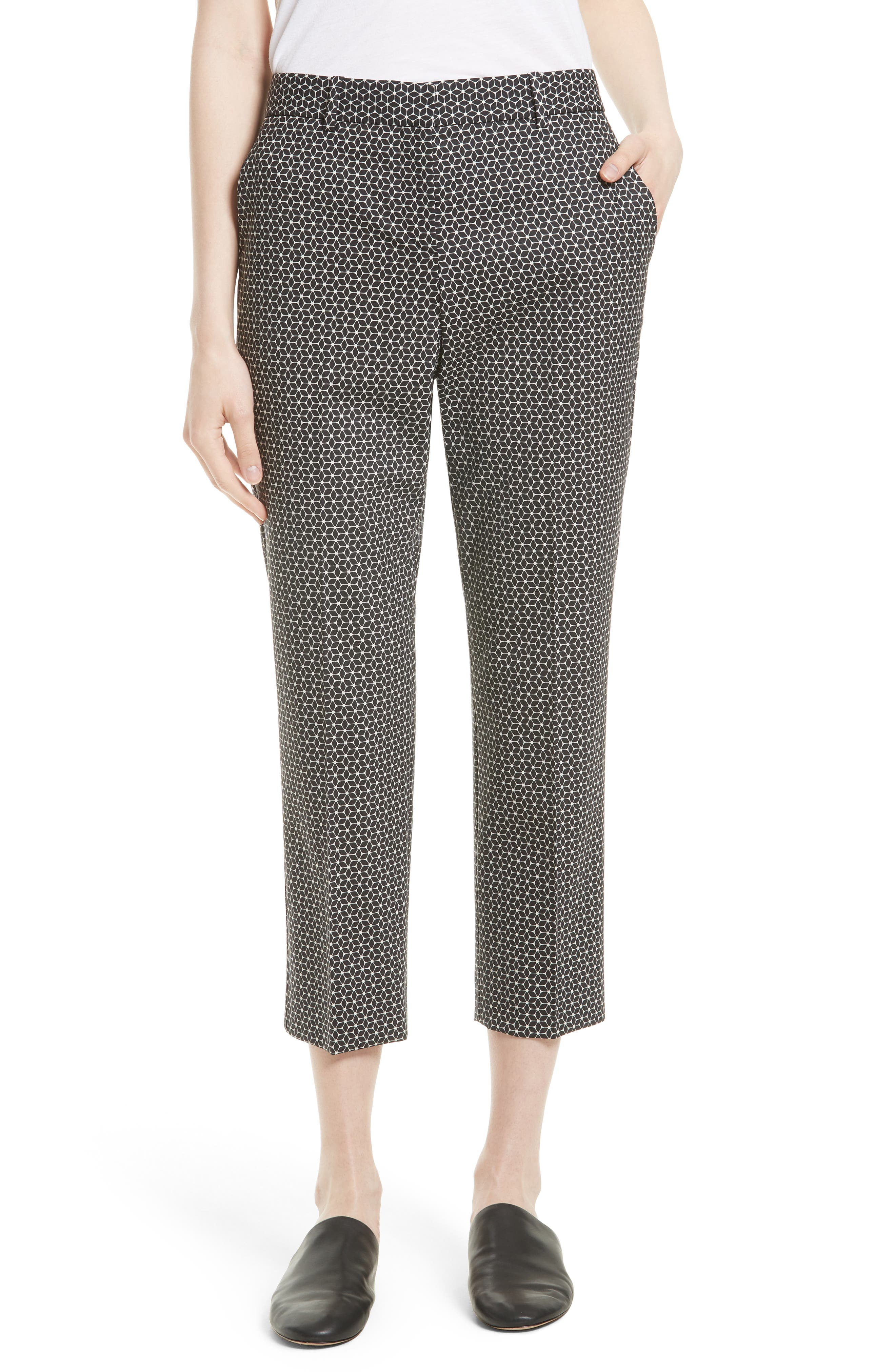 Theory Treeca 2 Crop Stretch Wool Trousers
