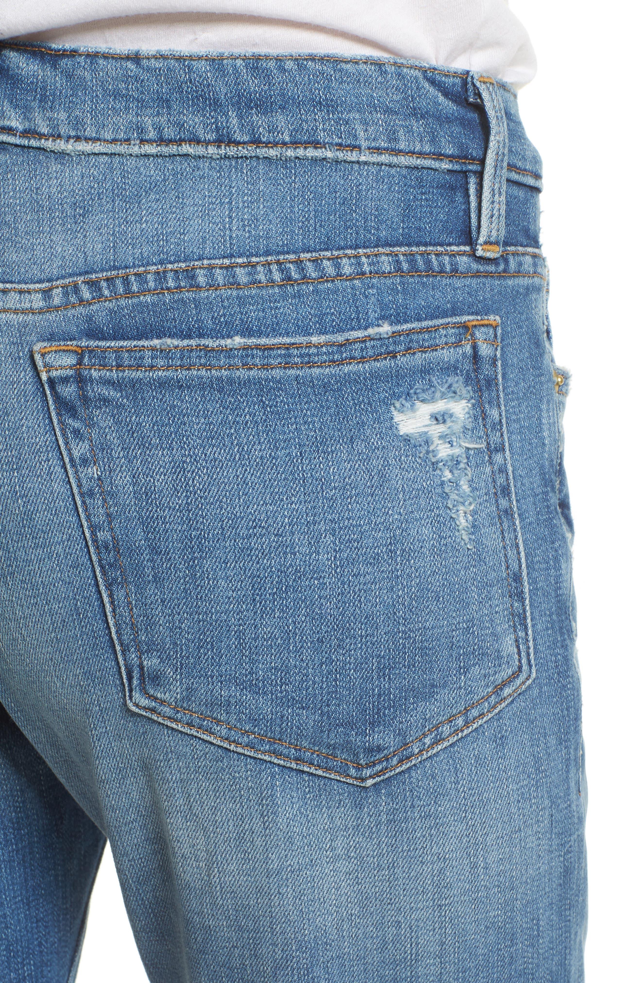 Alternate Image 5  - FRAME Le Boy Zip Hem Crop Jeans (Picadilly) (Nordstrom Exclusive)