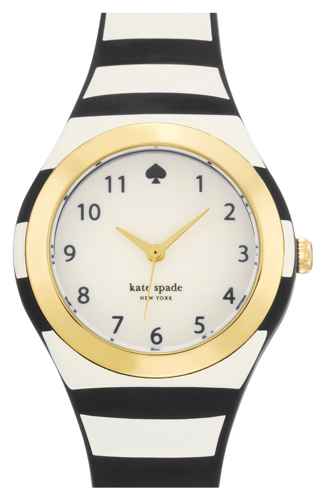 KATE SPADE NEW YORK 'rumsey' plastic strap watch,