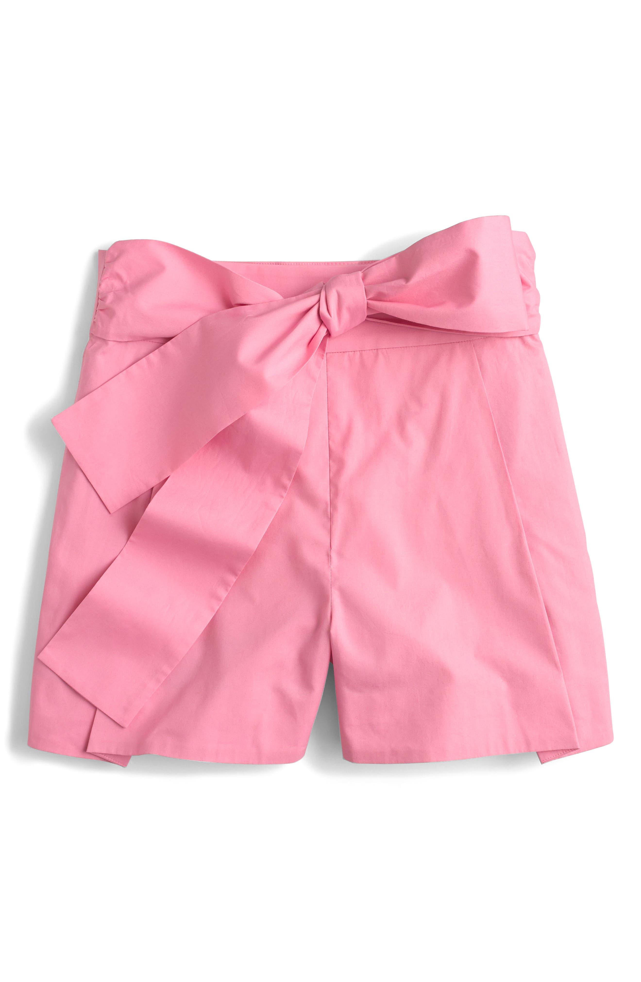 Alternate Image 3  - J.Crew Cotton Poplin Tie Waist Shorts