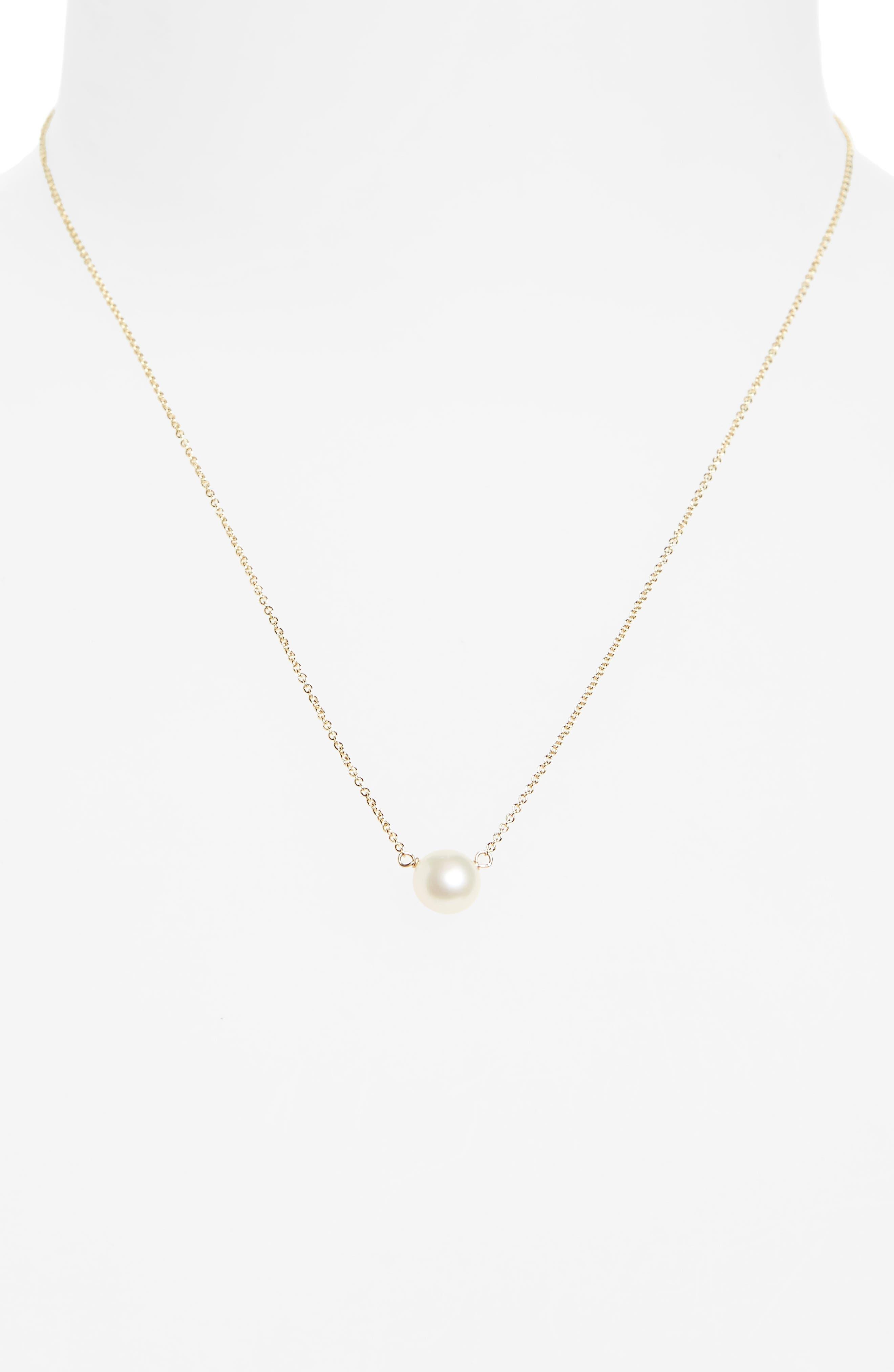 Alternate Image 2  - Dogeared I Love Mom Pearl Pendant Necklace