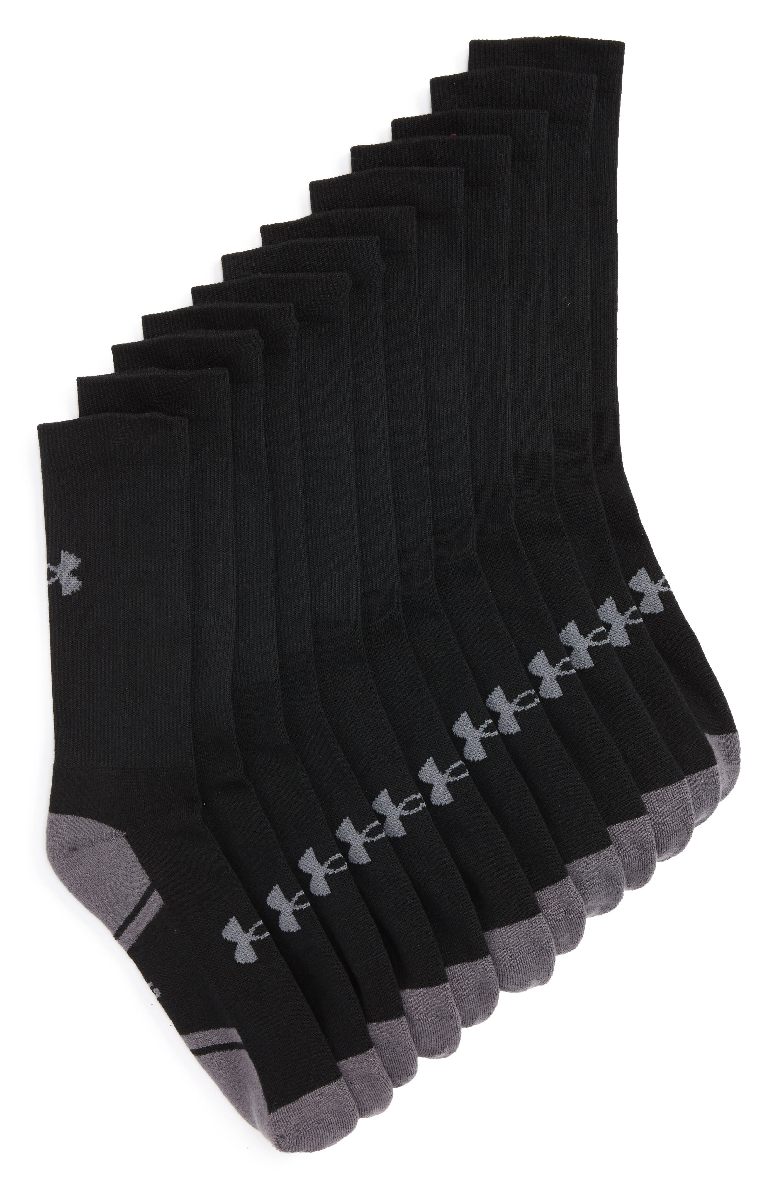 Under Armour Resistor 3.0 6-Pack Crew Socks