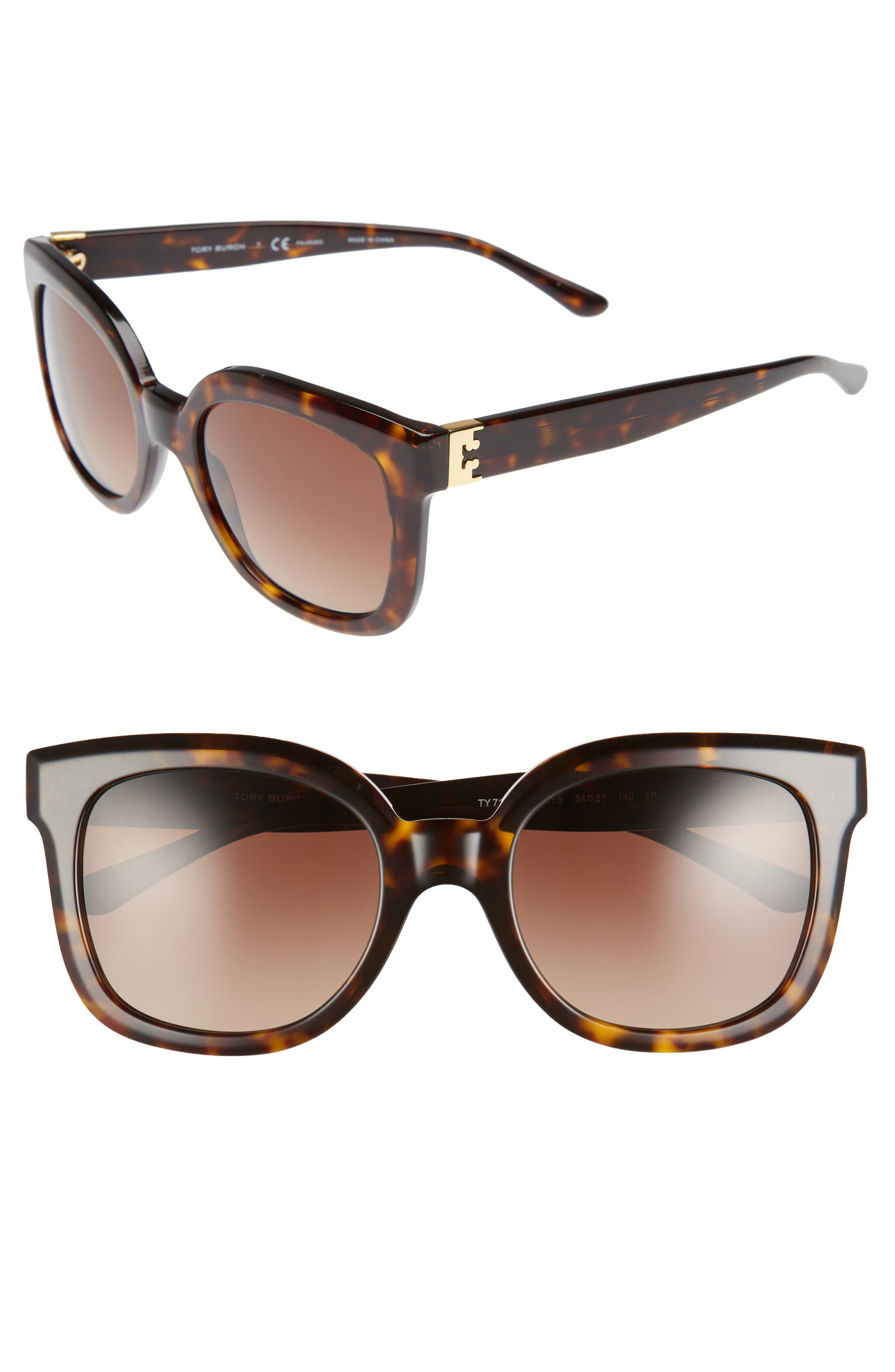 Tory Burch Modern-T 54mm Gradient Cat Eye Sunglasses