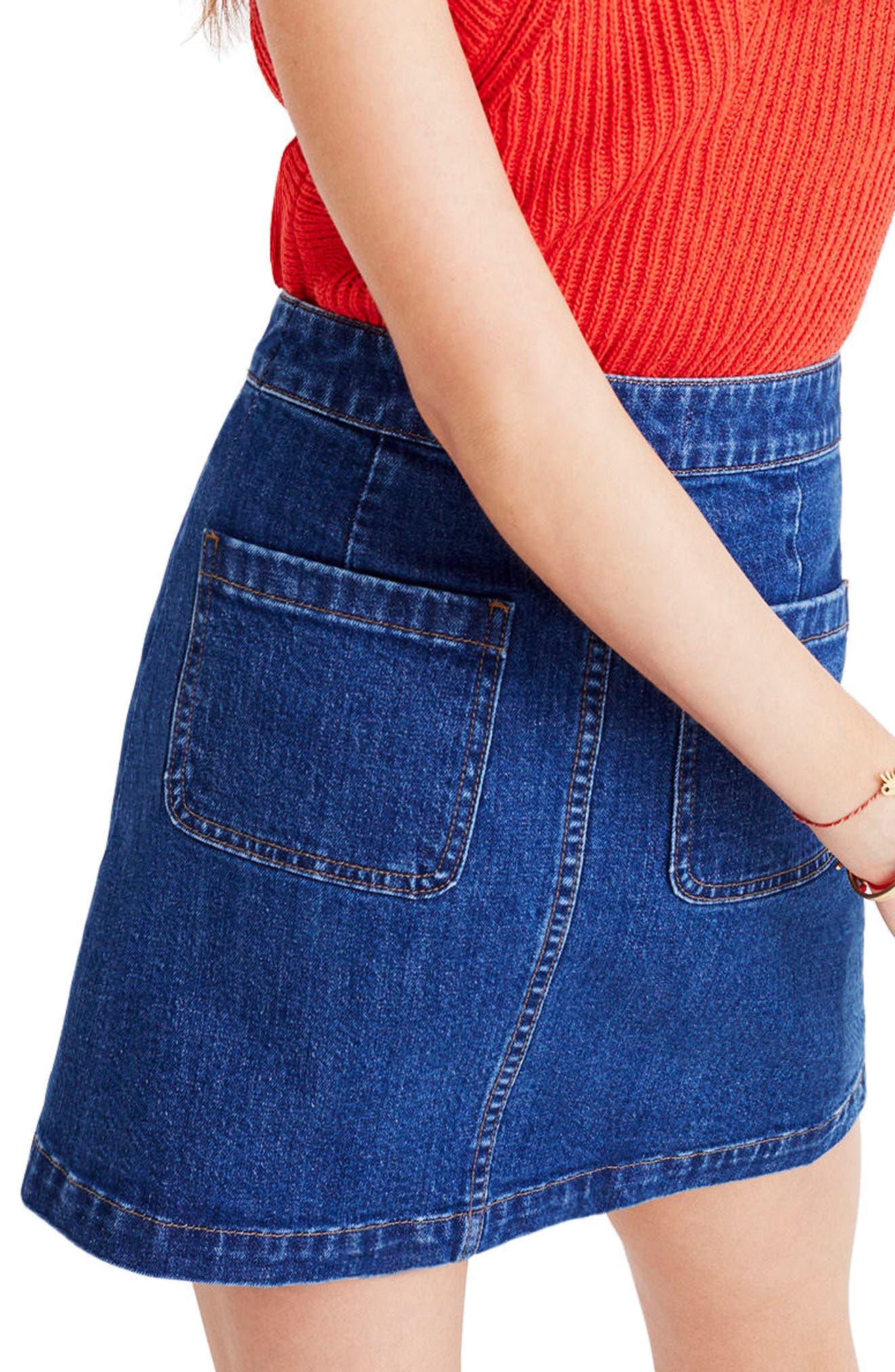 Alternate Image 2  - Madewell Denim Miniskirt