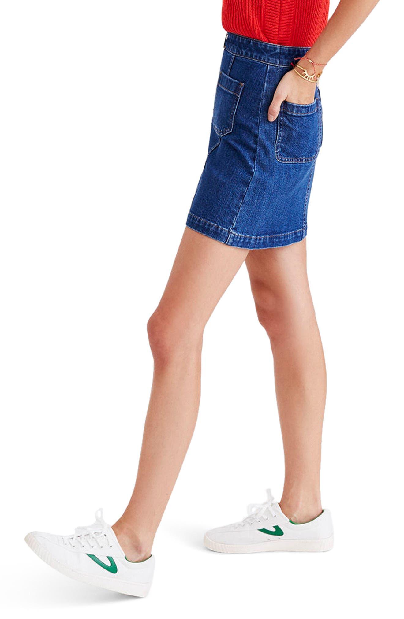 Alternate Image 3  - Madewell Denim Miniskirt