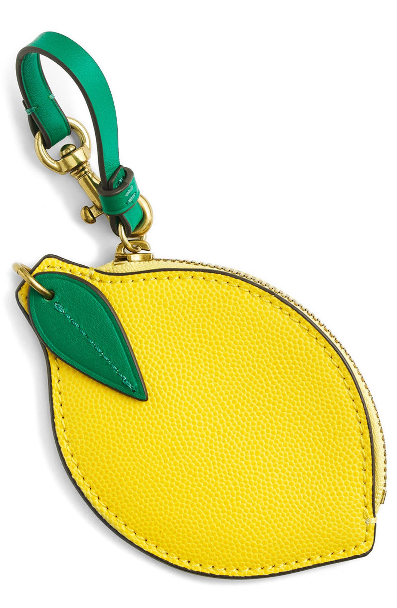 J.Crew Leather Lemon Coin Purse
