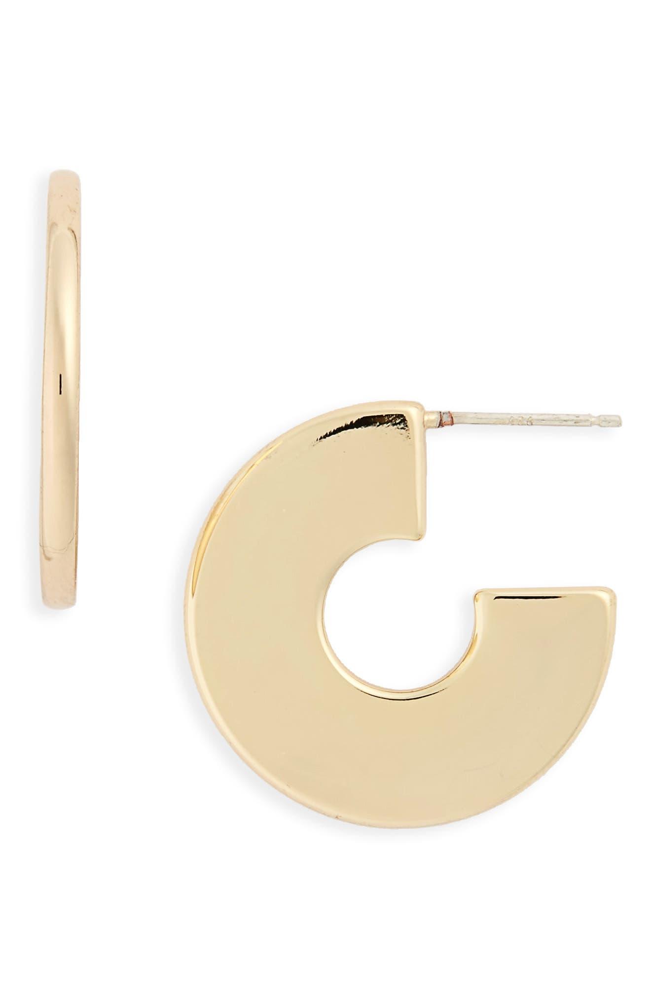 Main Image - Madewell Flat Hoop Earrings