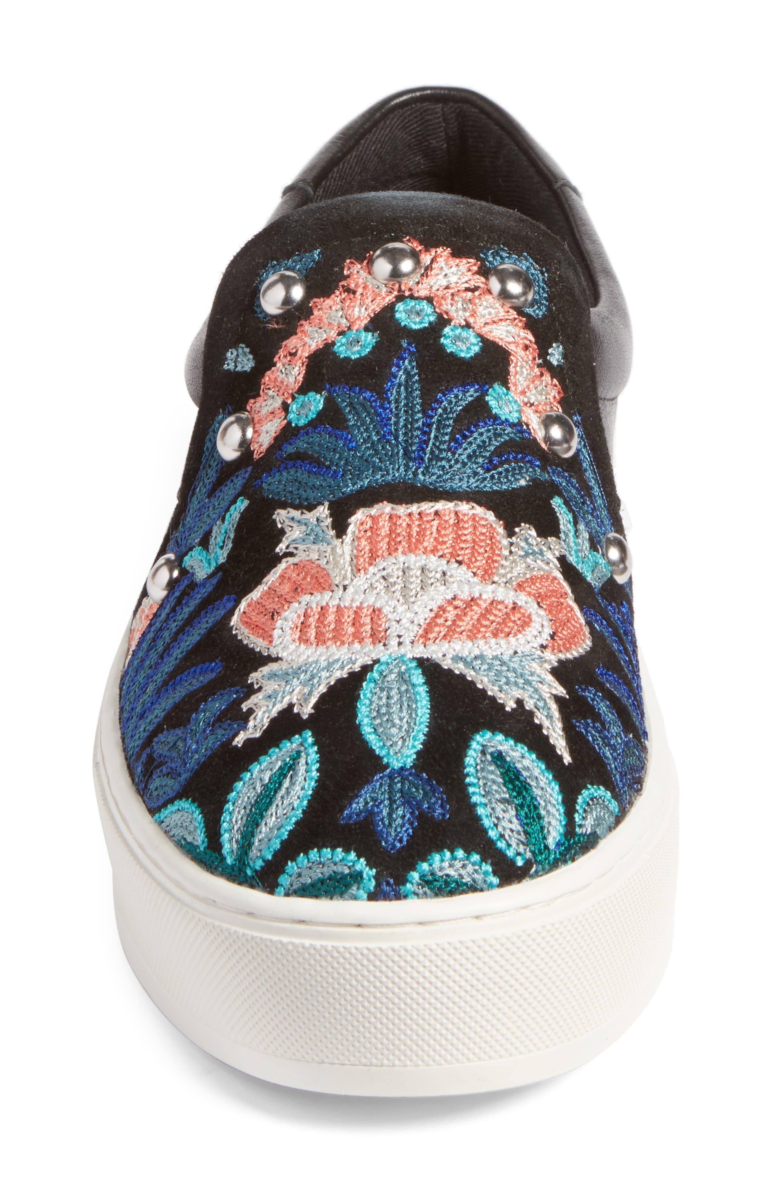Alternate Image 4  - Rebecca Minkoff Noelle Embellished Slip-On Platform Sneaker (Women)
