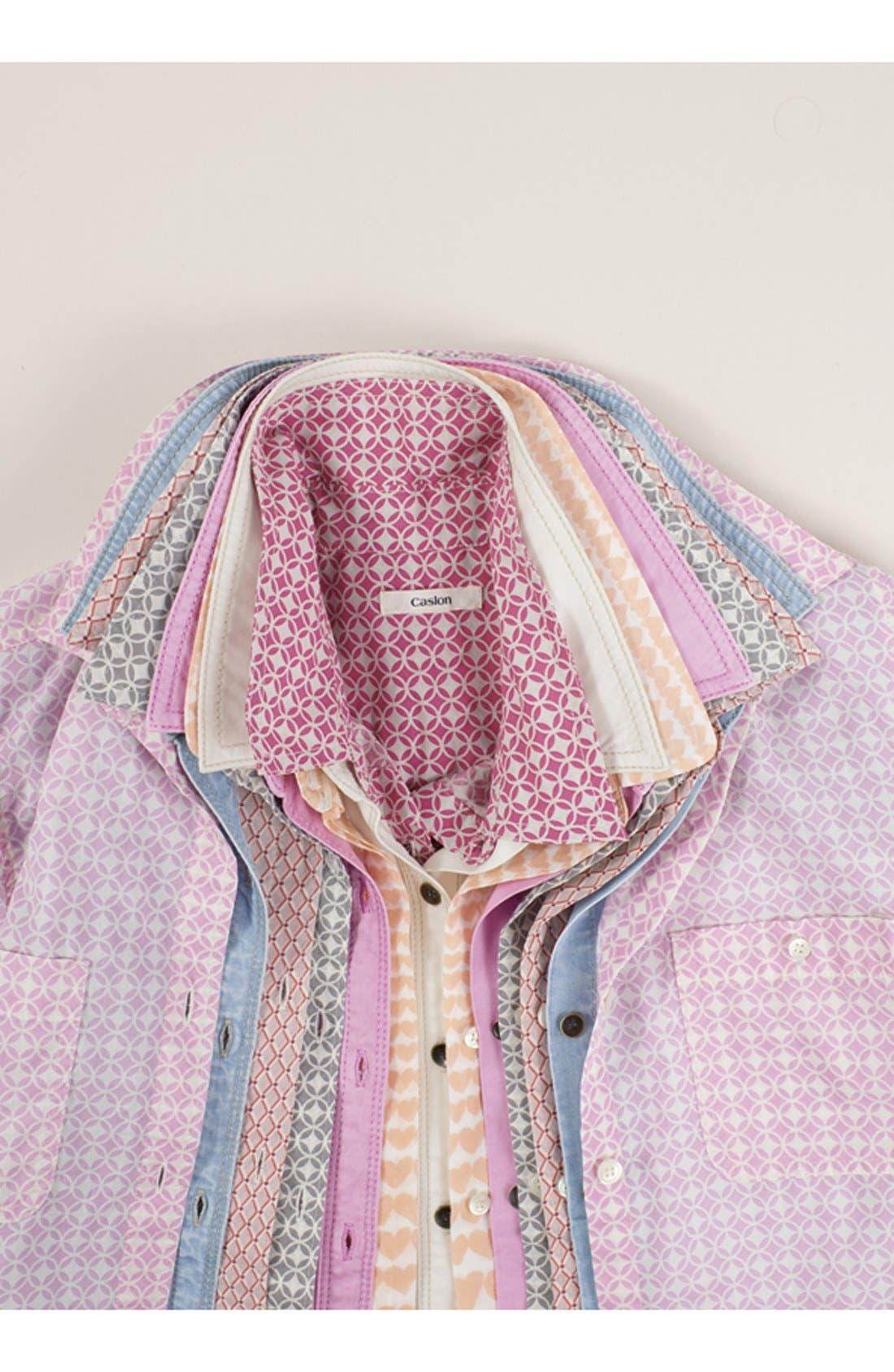 Alternate Image 4  - Halogen® Cotton & Silk Shirt (Regular & Petite)