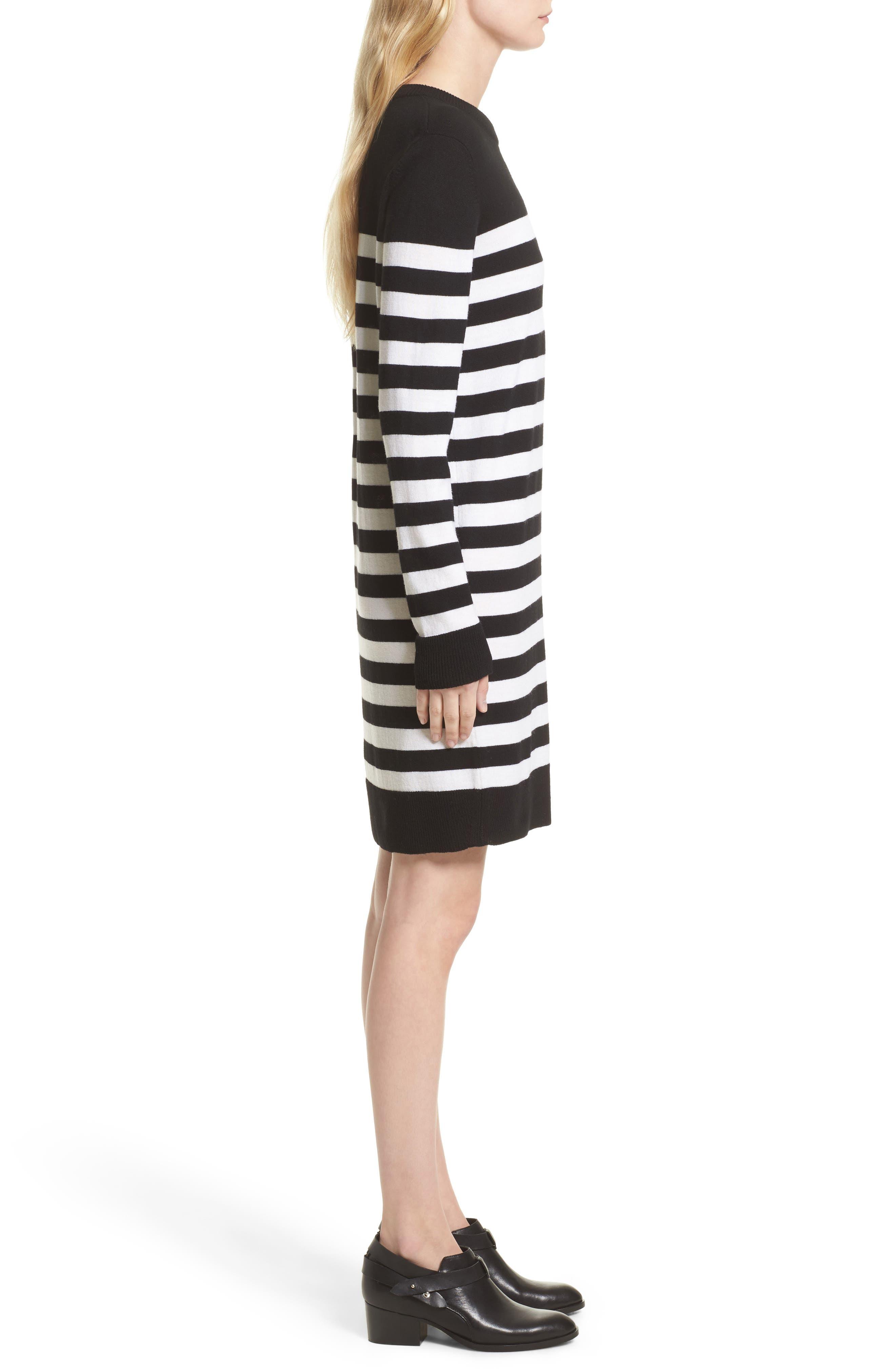 Alternate Image 4  - rag & bone Lilian Stripe Merino Wool Dress (Nordstrom Exclusive)