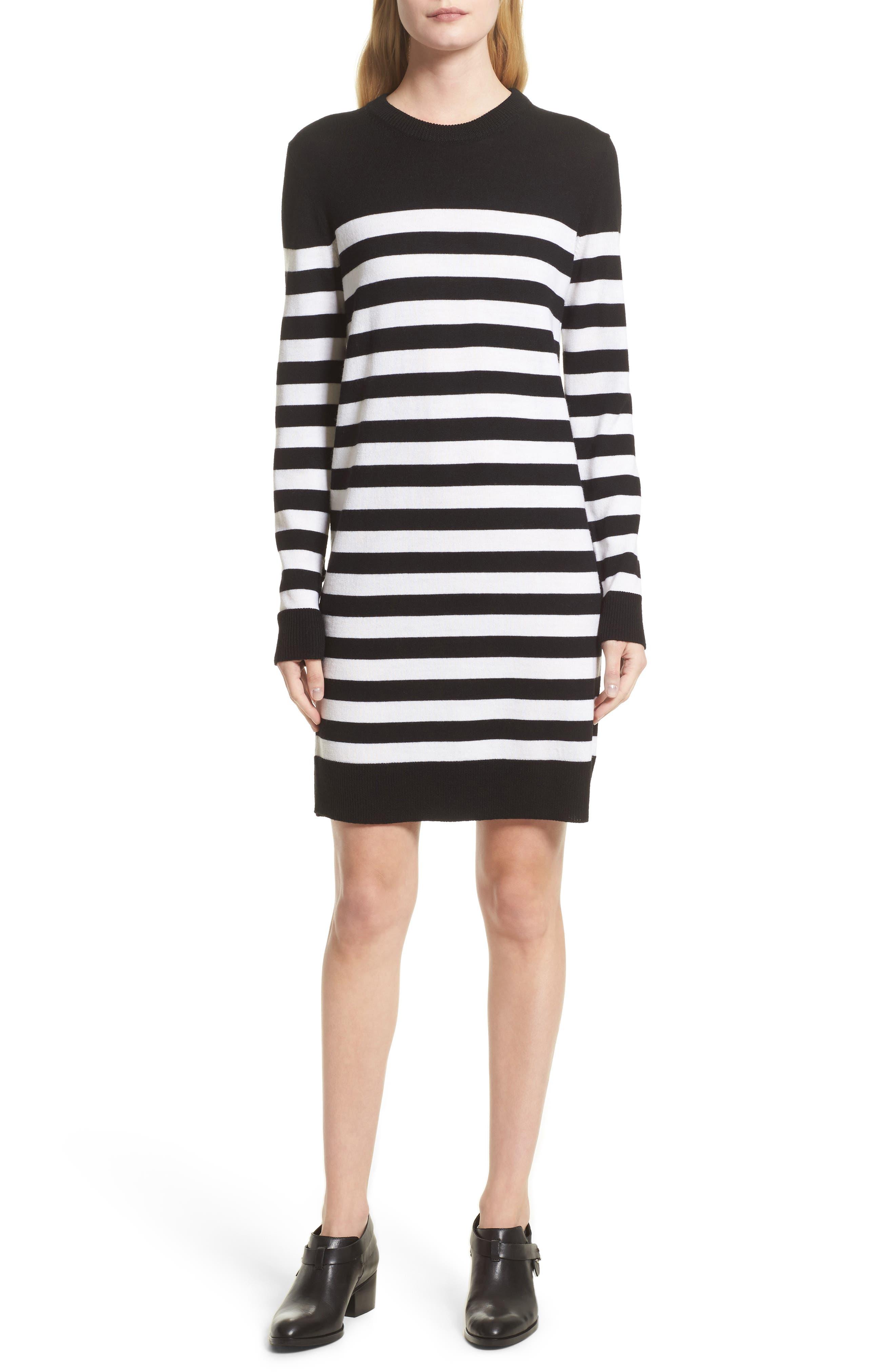 Main Image - rag & bone Lilian Stripe Merino Wool Dress (Nordstrom Exclusive)