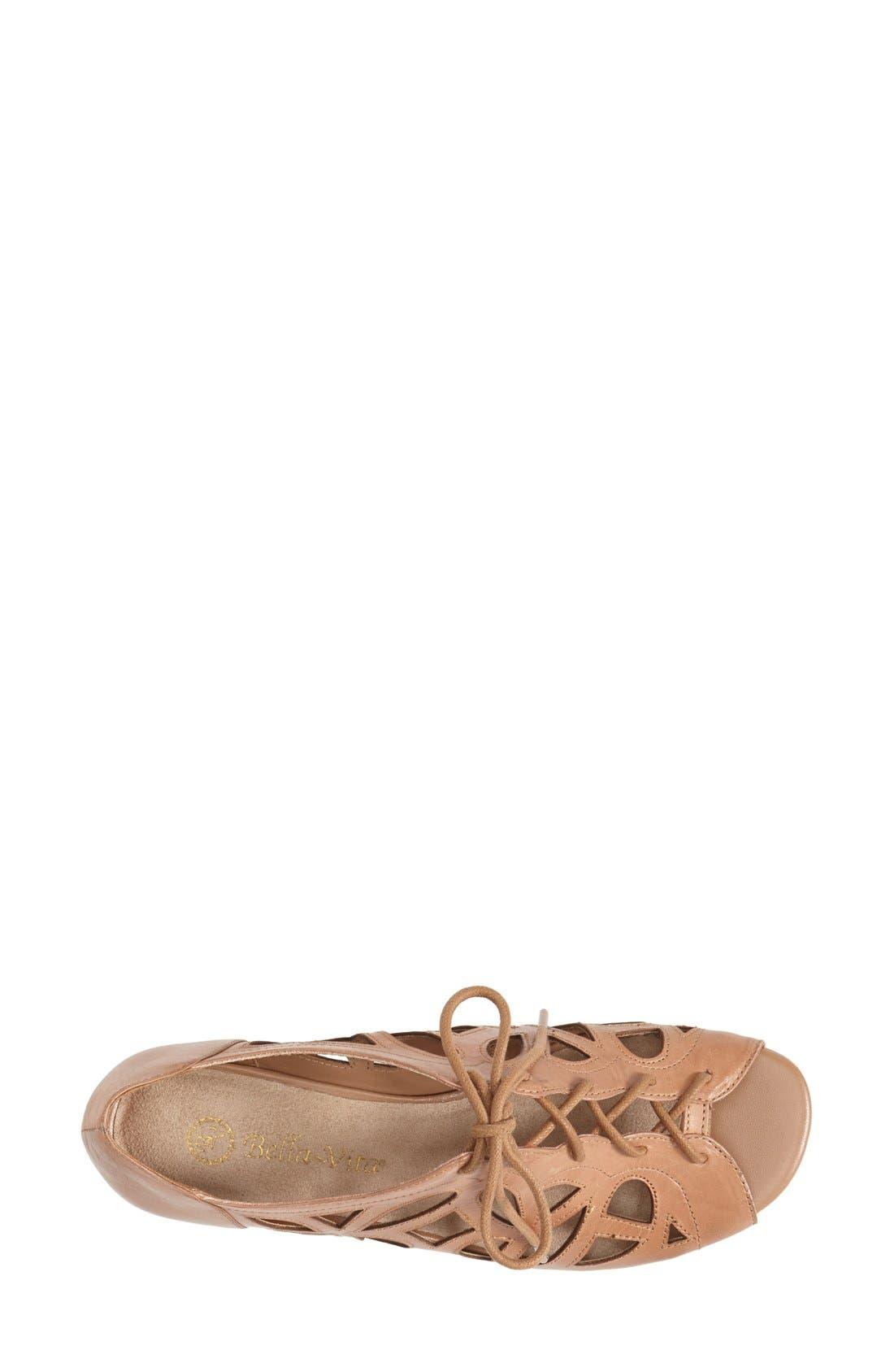 Alternate Image 3  - Bella Vita 'Pixie' Lace Up Cutout Leather Sandal
