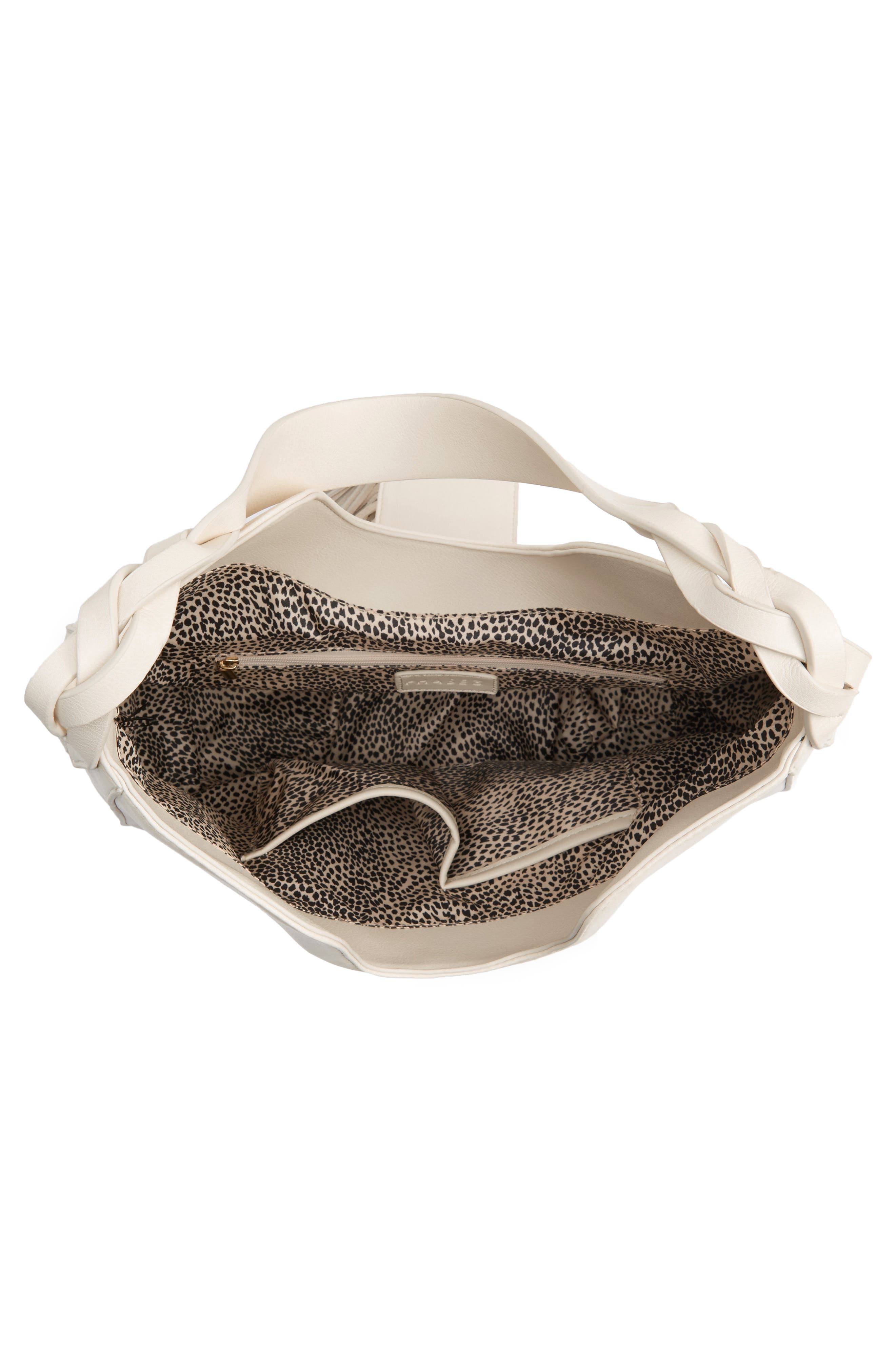 Alternate Image 5  - Phase 3 Lace-Up Tassel Faux Leather Hobo