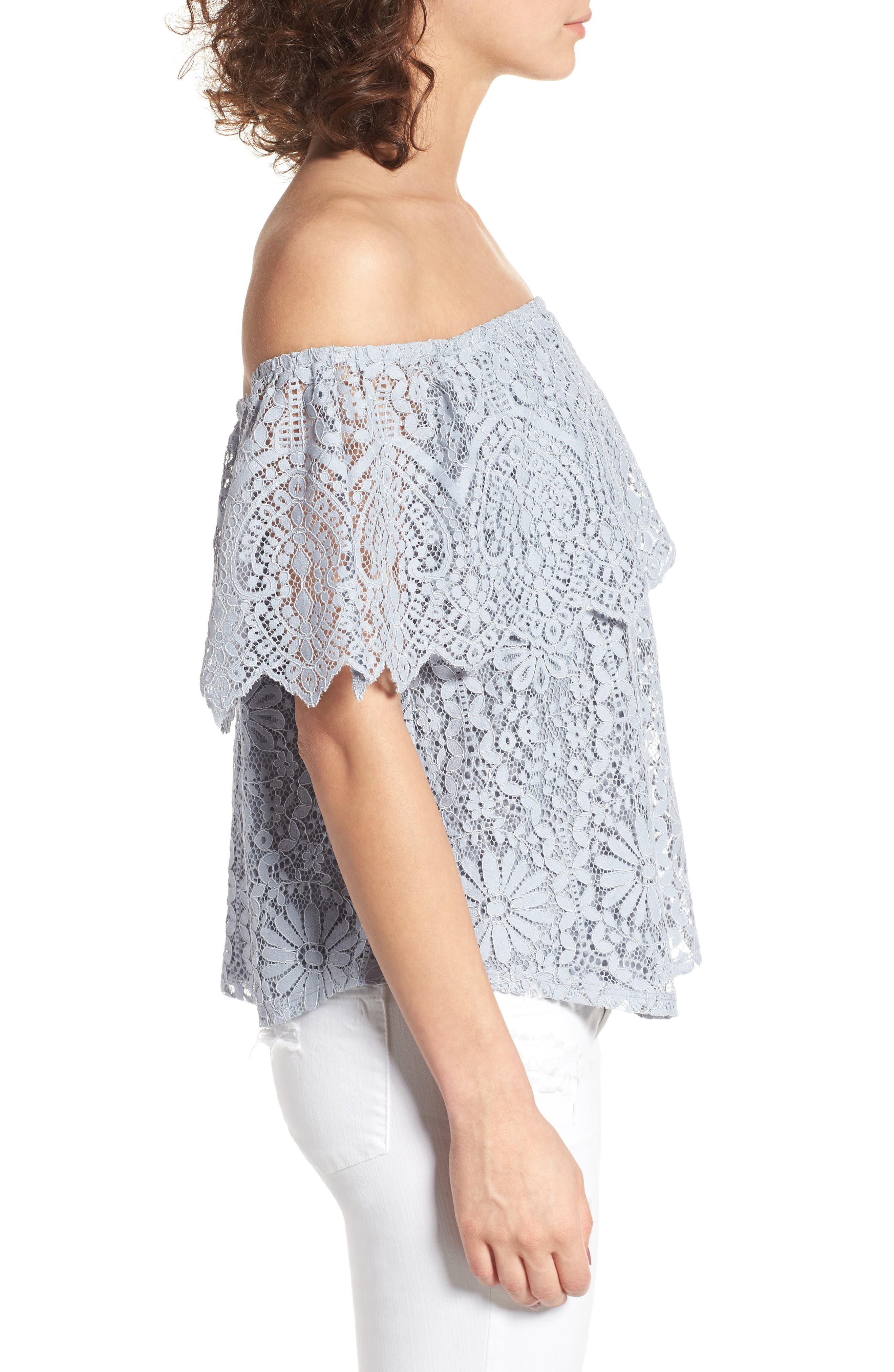 Alternate Image 3  - BP. Lace Off the Shoulder Top