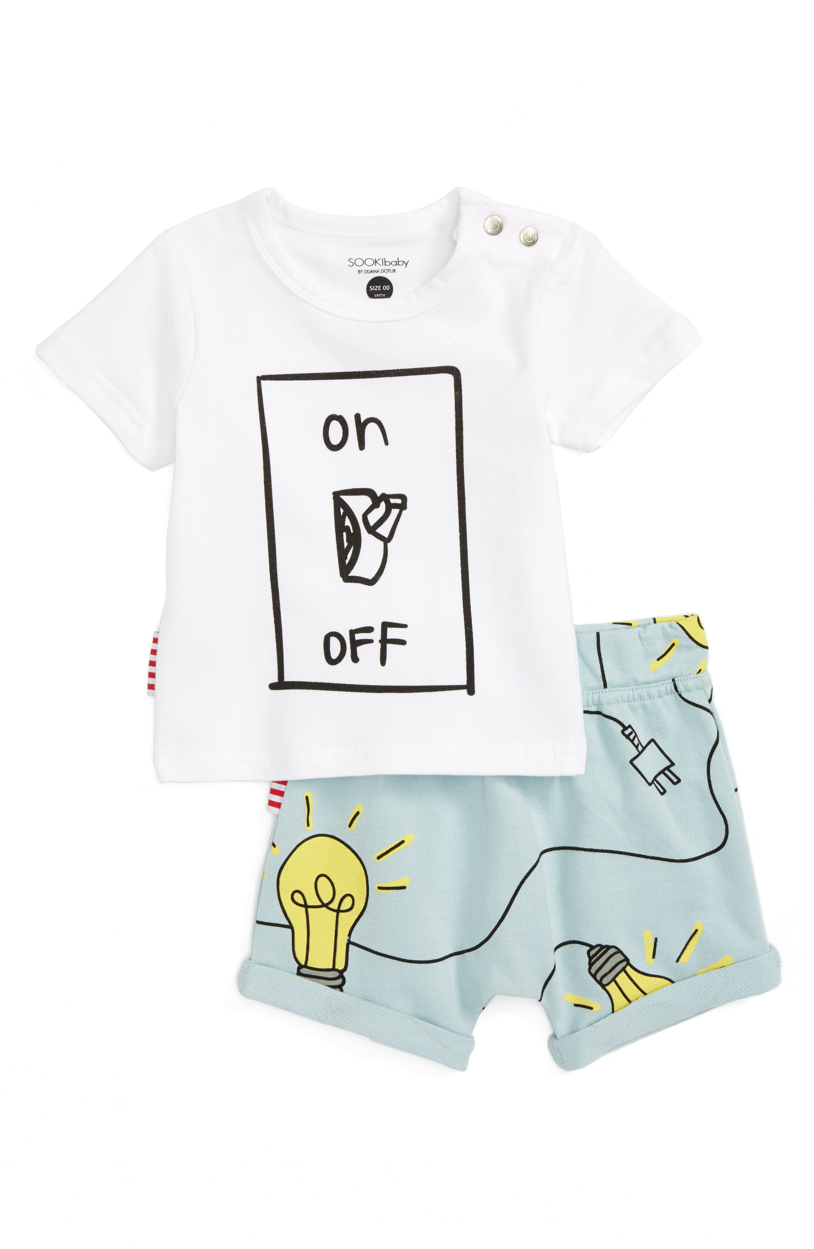 SOOKIbaby Lights On Tee & Shorts Set (Baby)