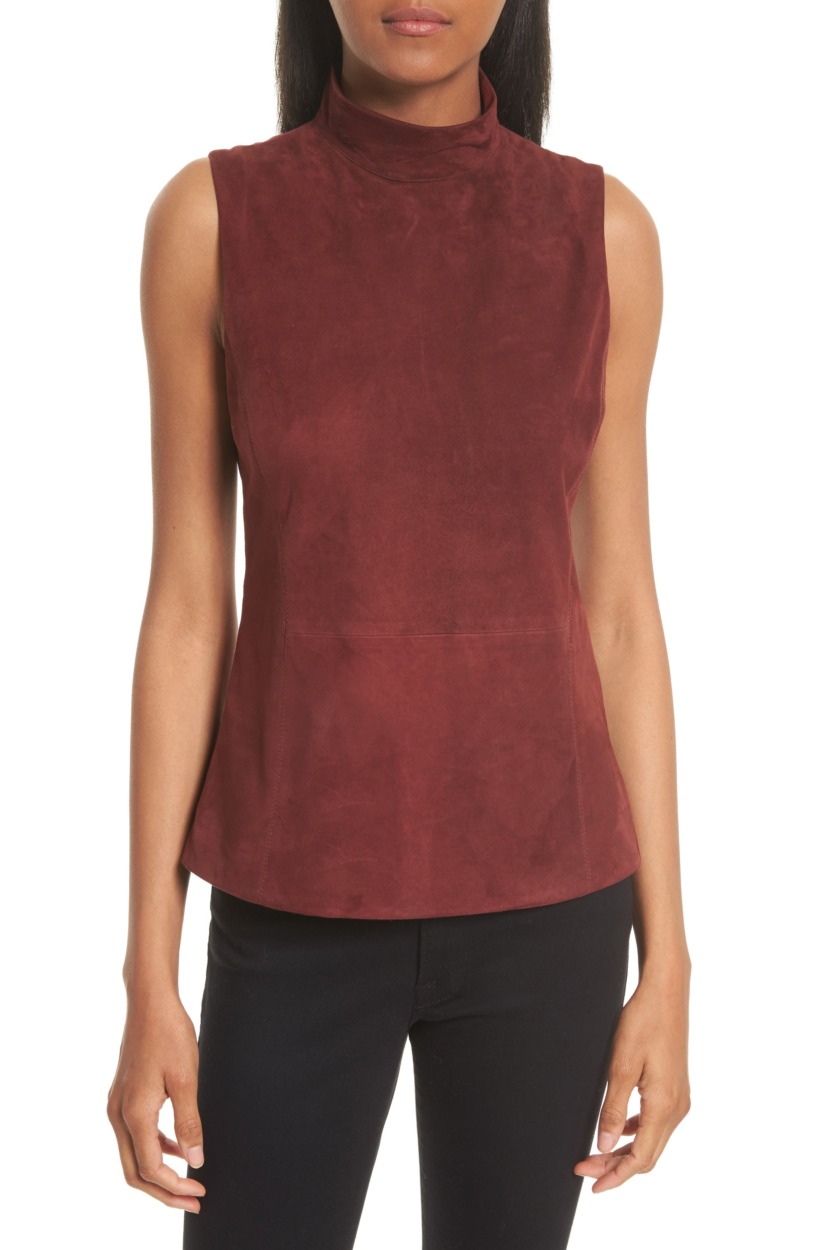 Theory Eulia Tidle Suede Front Top