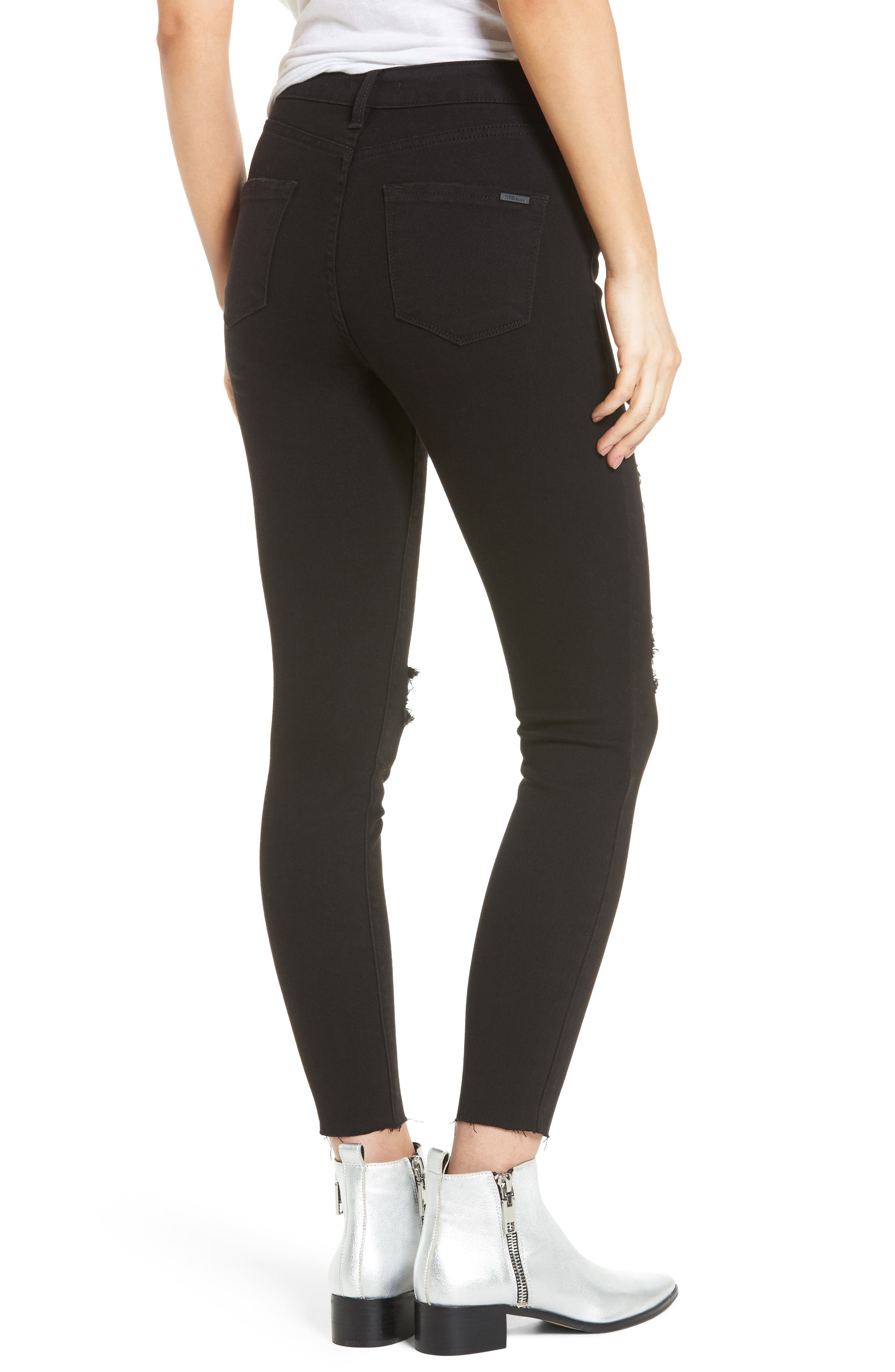 Alternate Image 2  - STS Blue Ashley High Waist Ankle Skinny Jeans