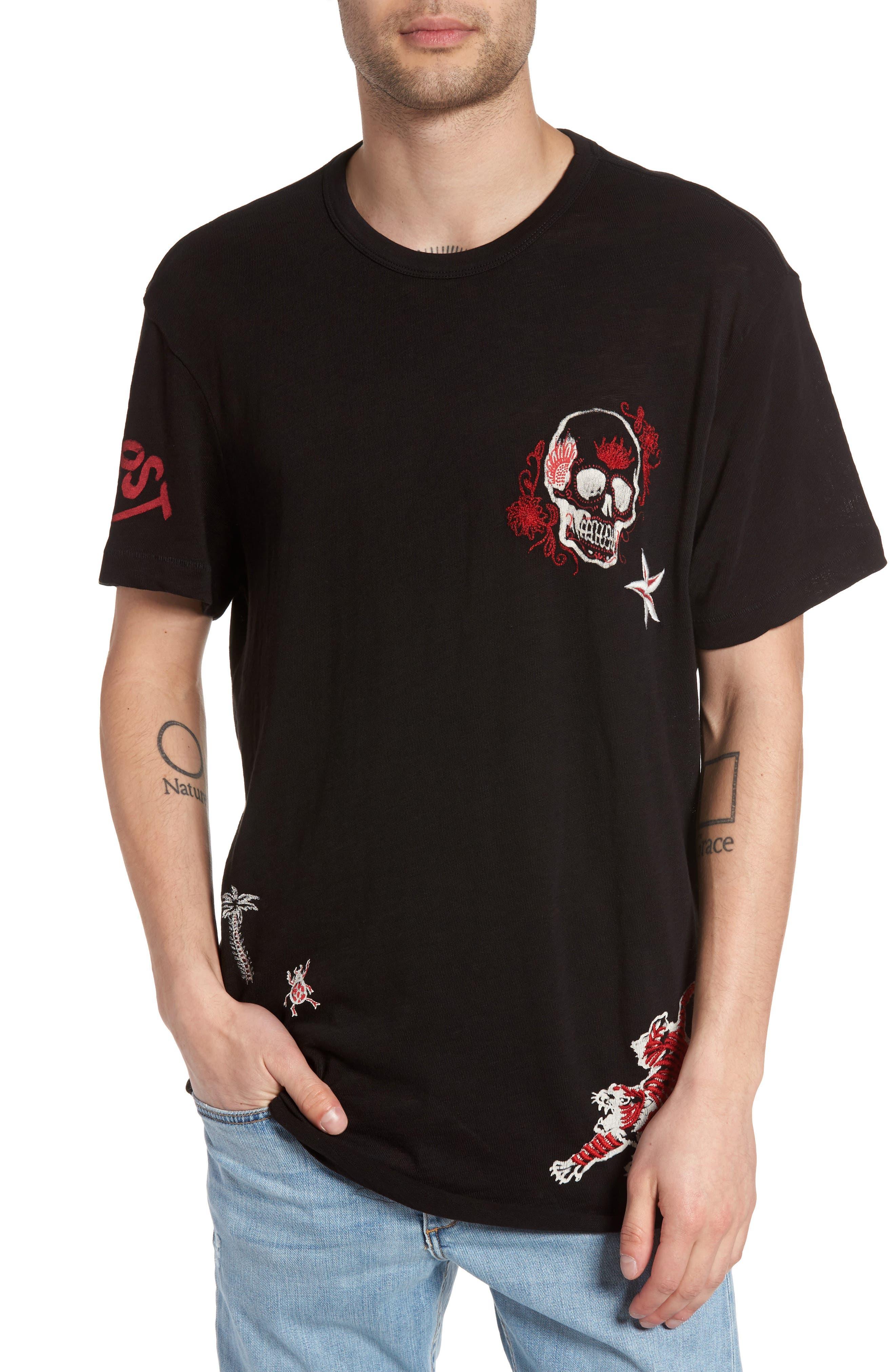 True Religion Brand Jeans Shirttail Hem T-Shirt