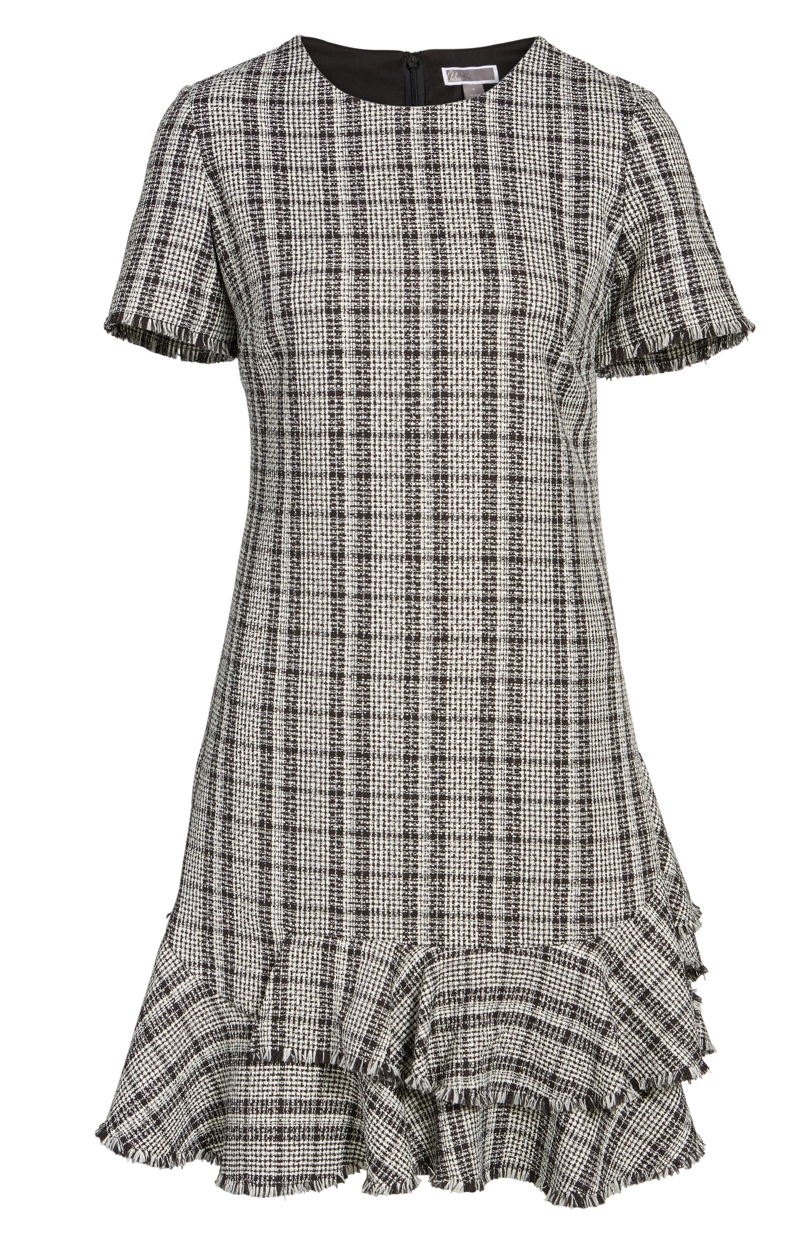 Alternate Image 6  - Chelsea28 Tweed Ruffle Shift Dress