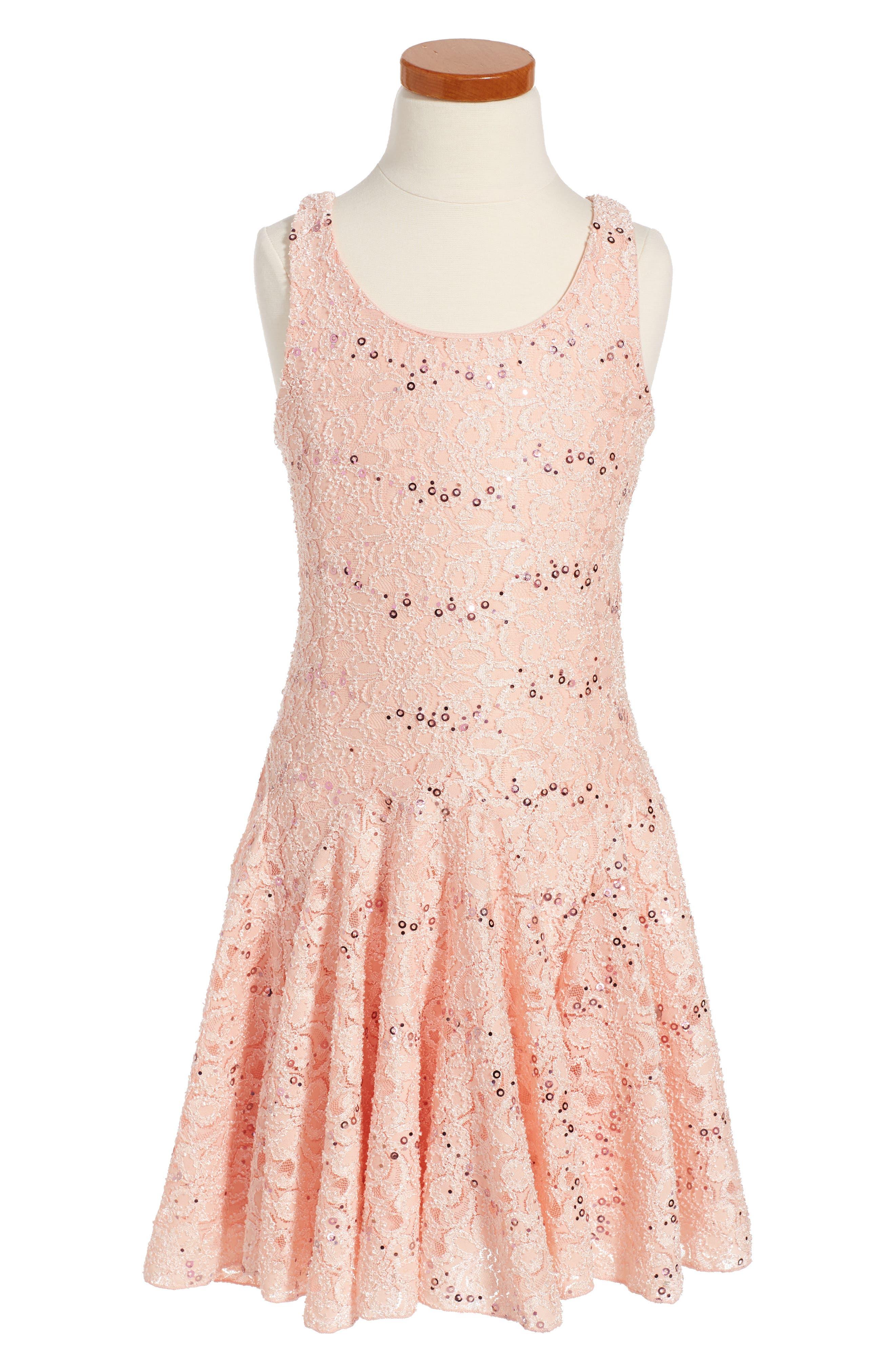 Twirls & Twigs Lace Sequin Dress (Toddler Girls, Little Girls & Big Girls)