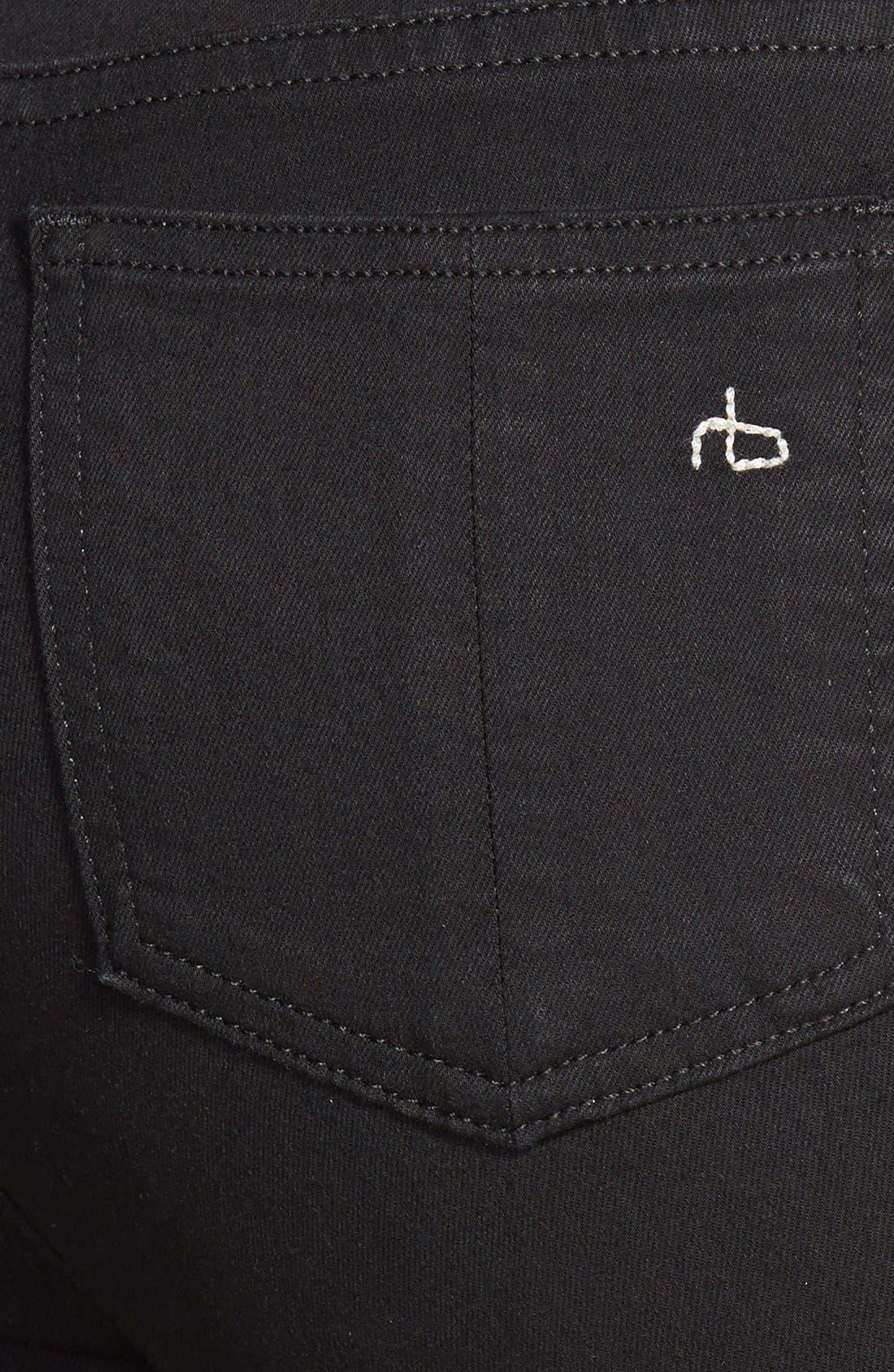Alternate Image 3  - rag & bone/JEAN High Waist Leggings (Black)