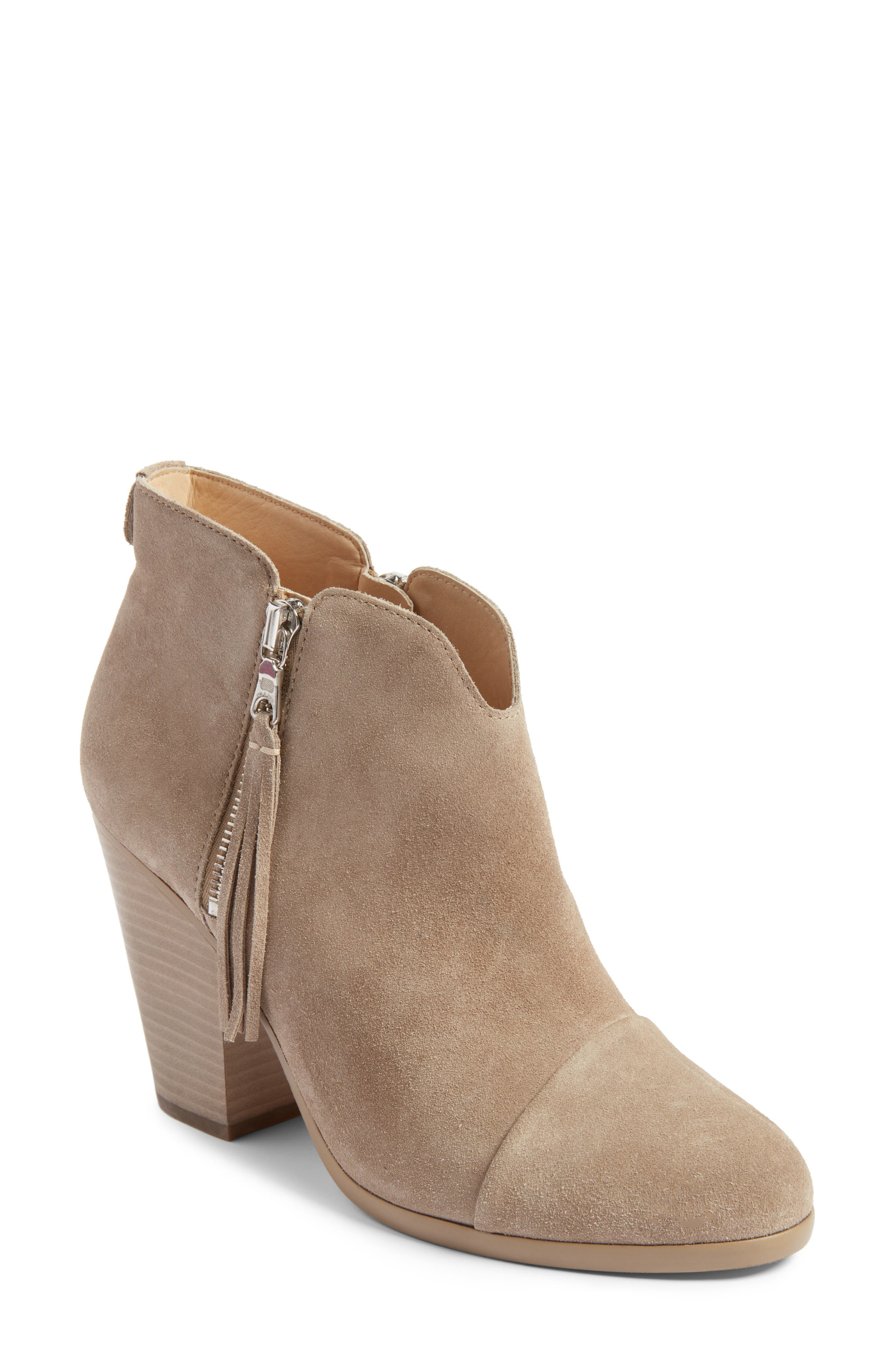Alternate Image 1 Selected - rag & bone Margot Fringe Cap Toe Bootie (Women)