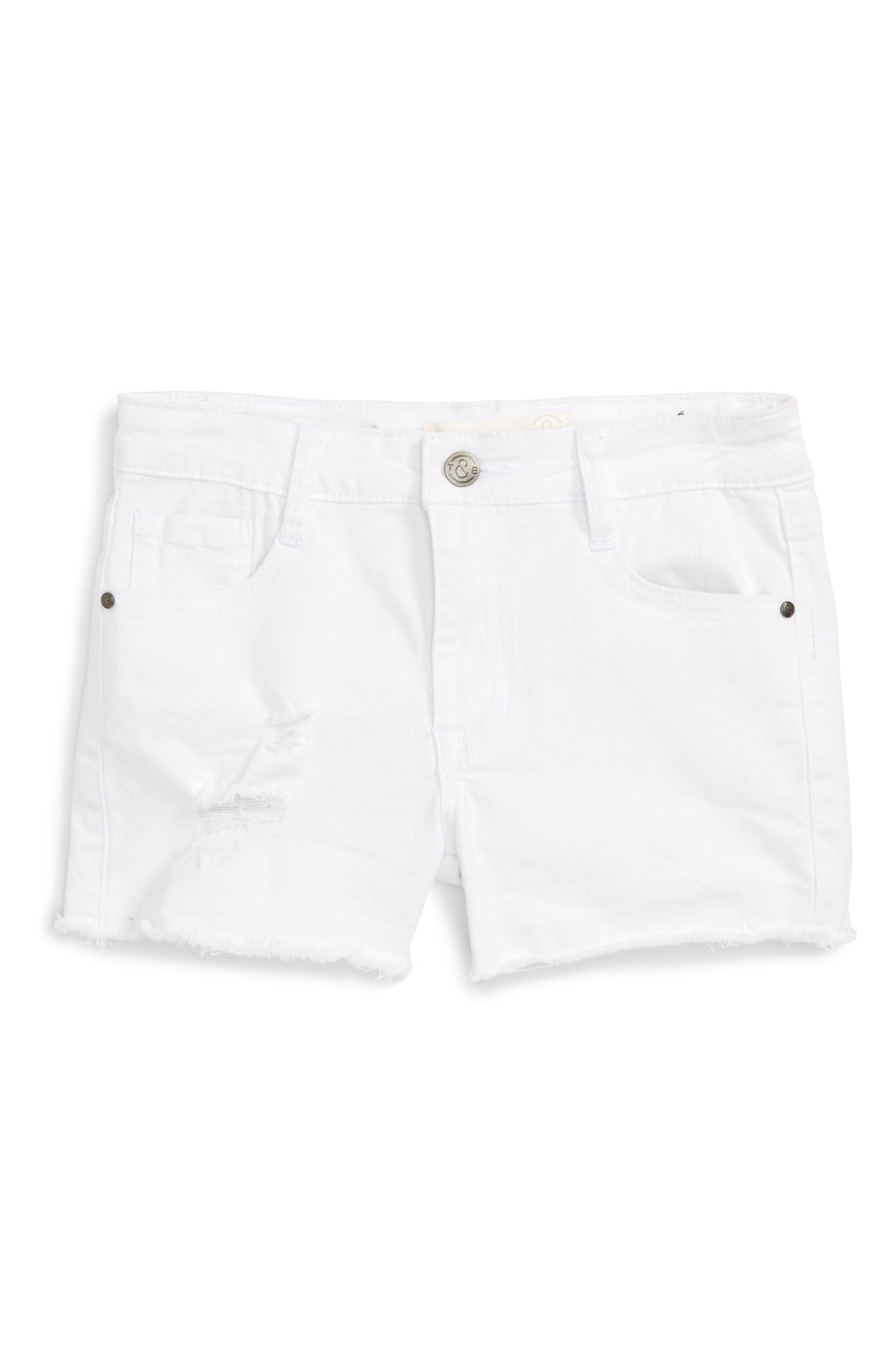 Treasure & Bond Cutoff Denim Shorts (Big Girls)