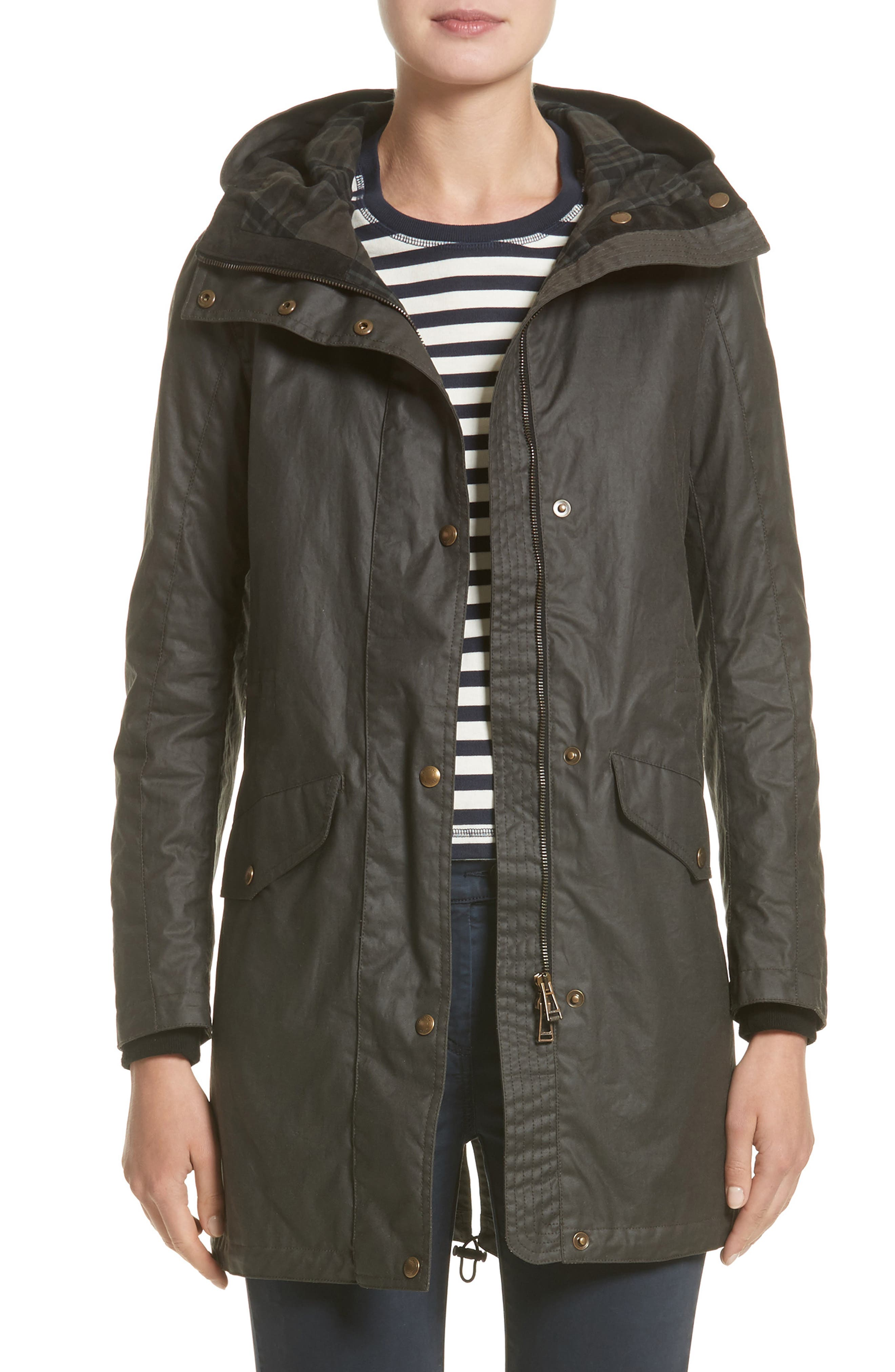 Belstaff Bayford Water Resistant Waxed Cotton Parka (Nordstrom Exclusive)