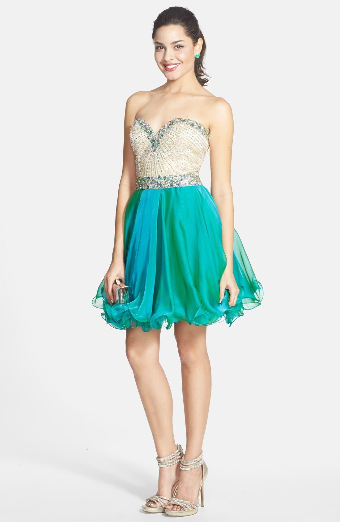 Alternate Image 3  - Sherri Hill Embellished Chiffon Fit & Flare Dress