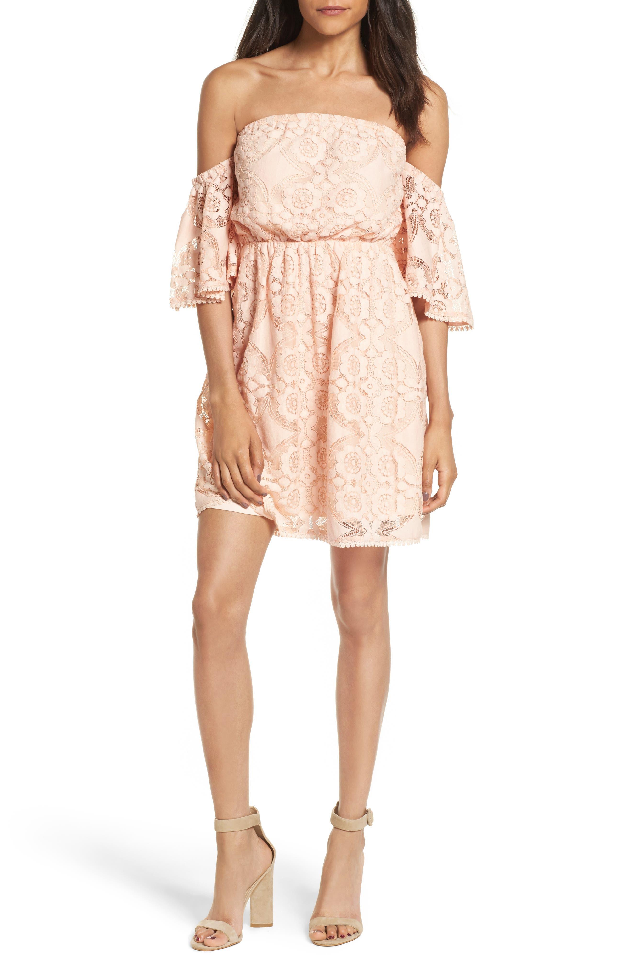 Soprano Blouson Lace Minidress