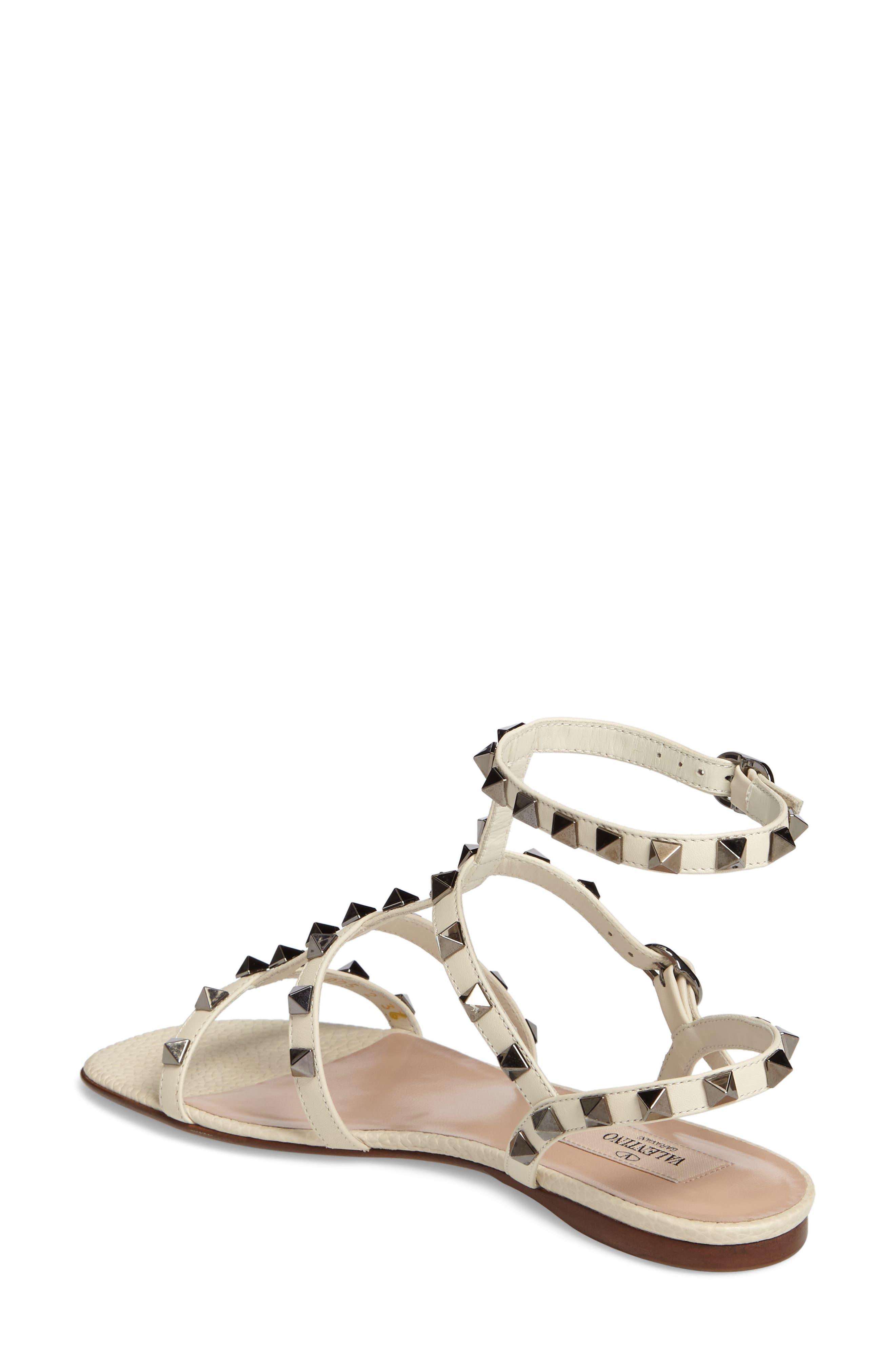 Alternate Image 2  - Valentino Rockstud Gladiator Sandal (Women)
