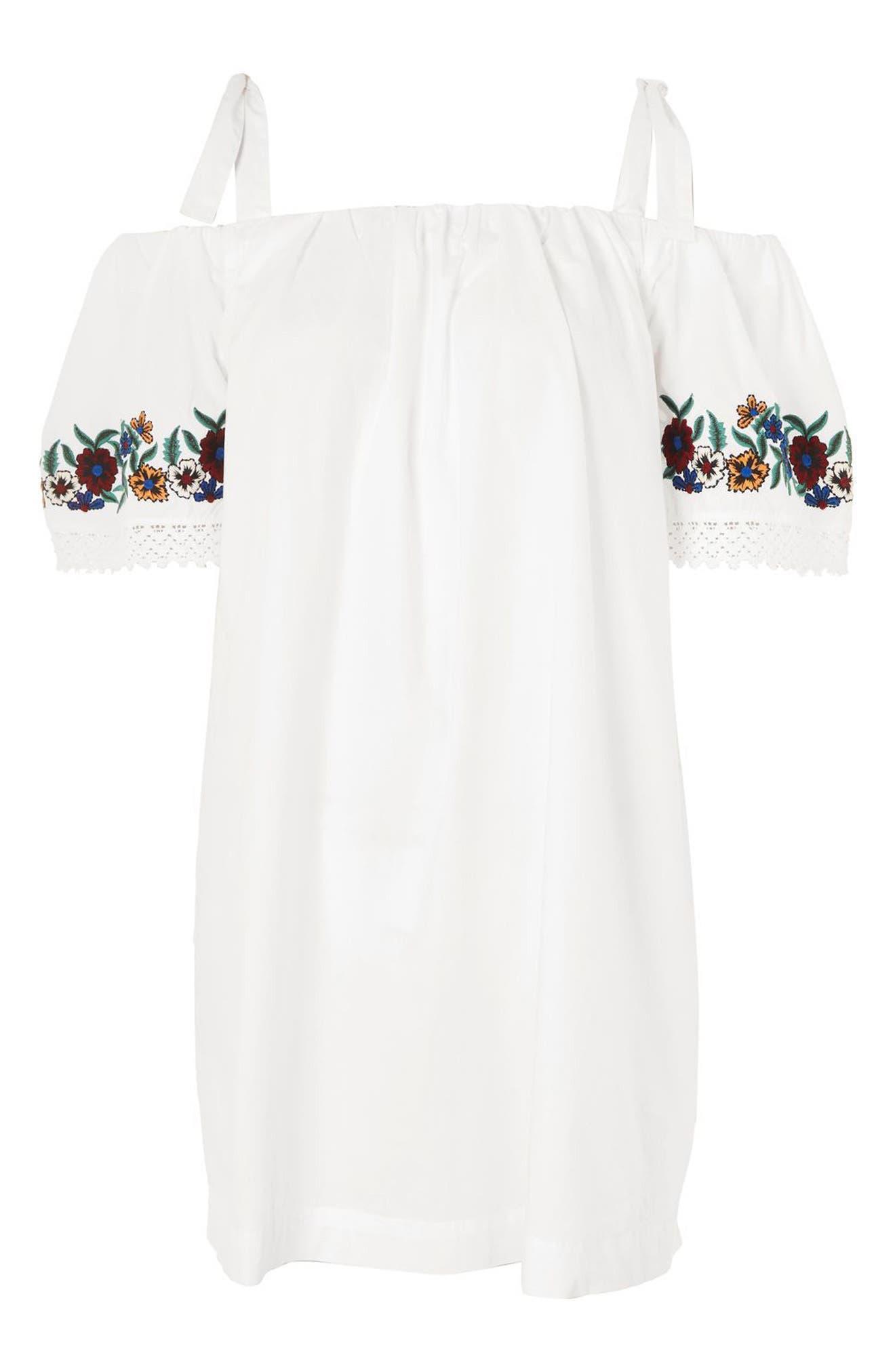 Alternate Image 3  - Topshop Bardot Embroidered Dress