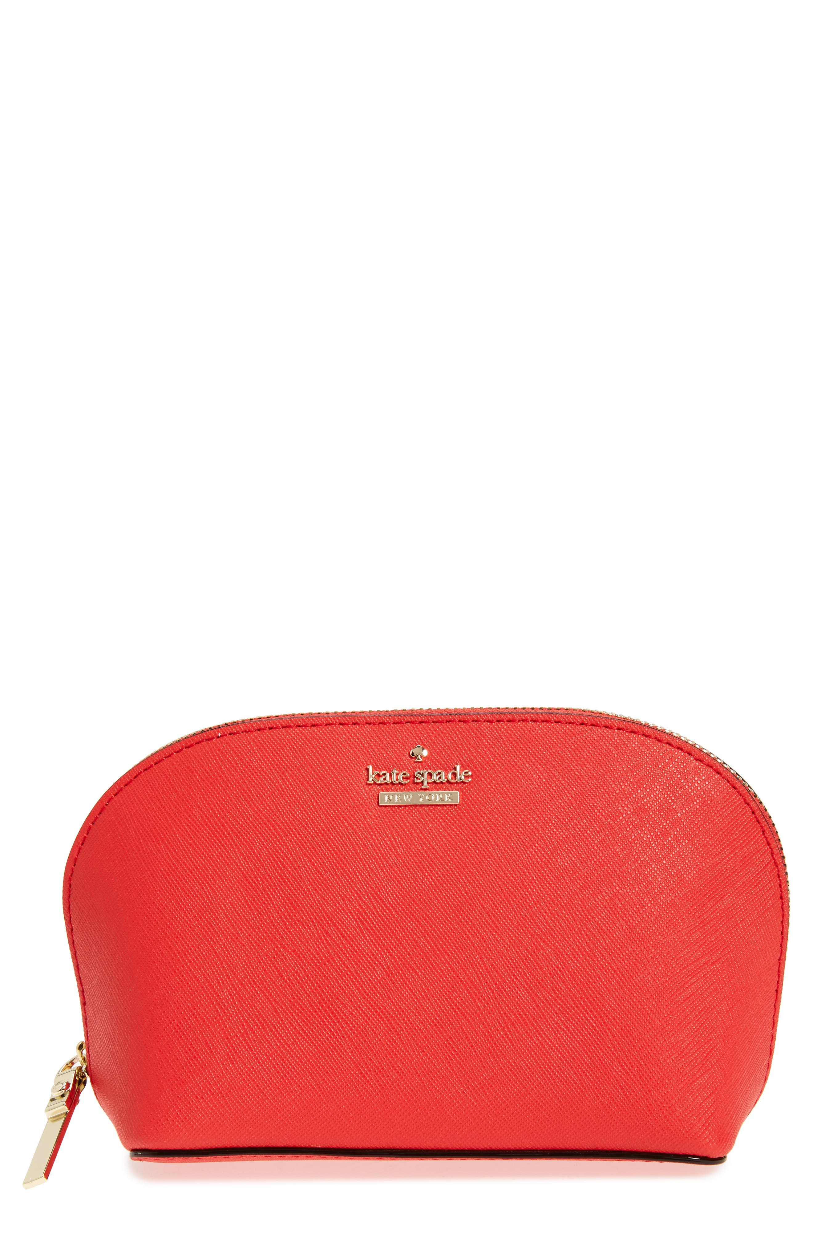 kate spade new york cameron street - small abalene leather cosmetics case