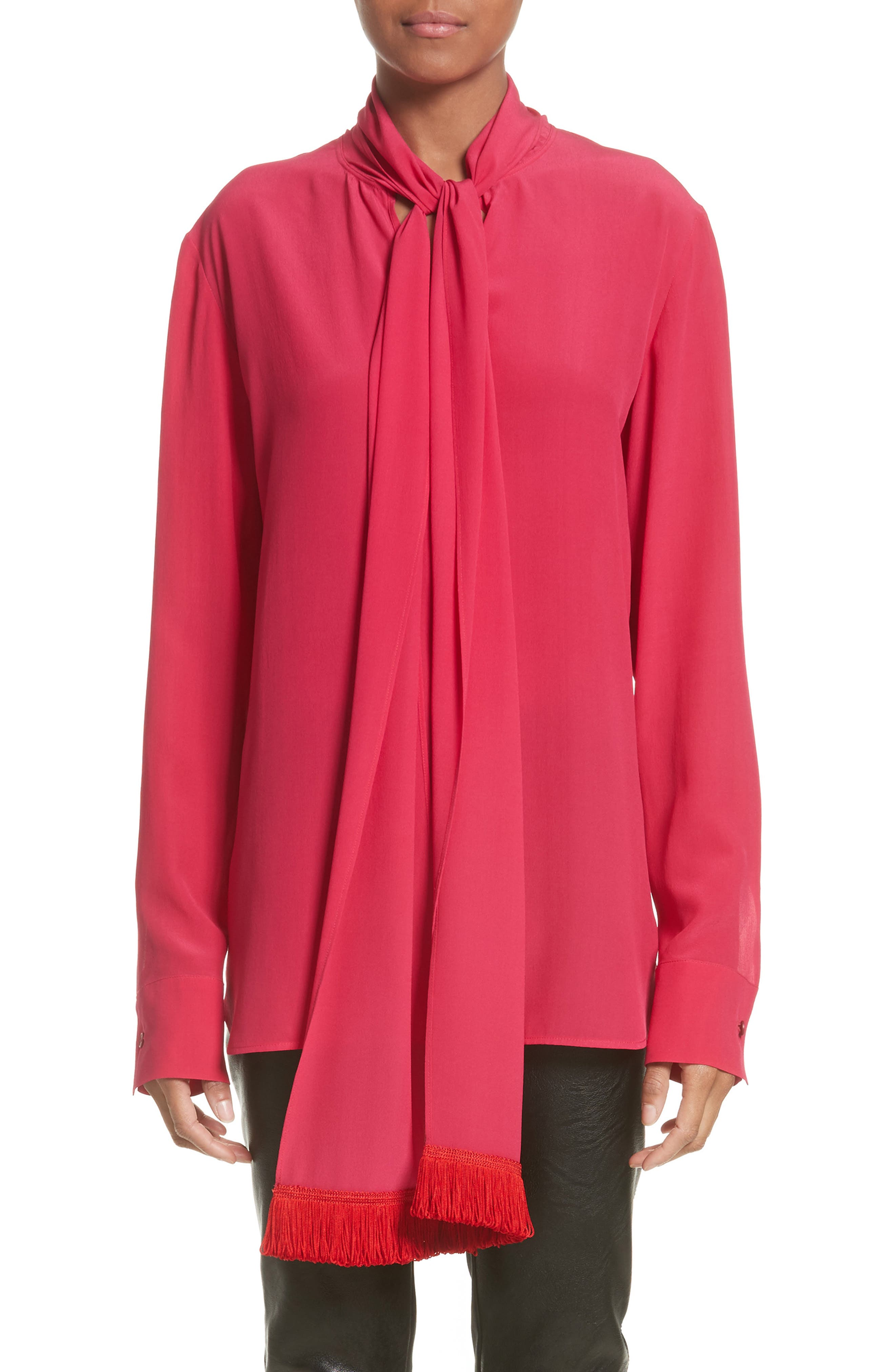 Stella McCartney Fringe Trim Tie Blouse