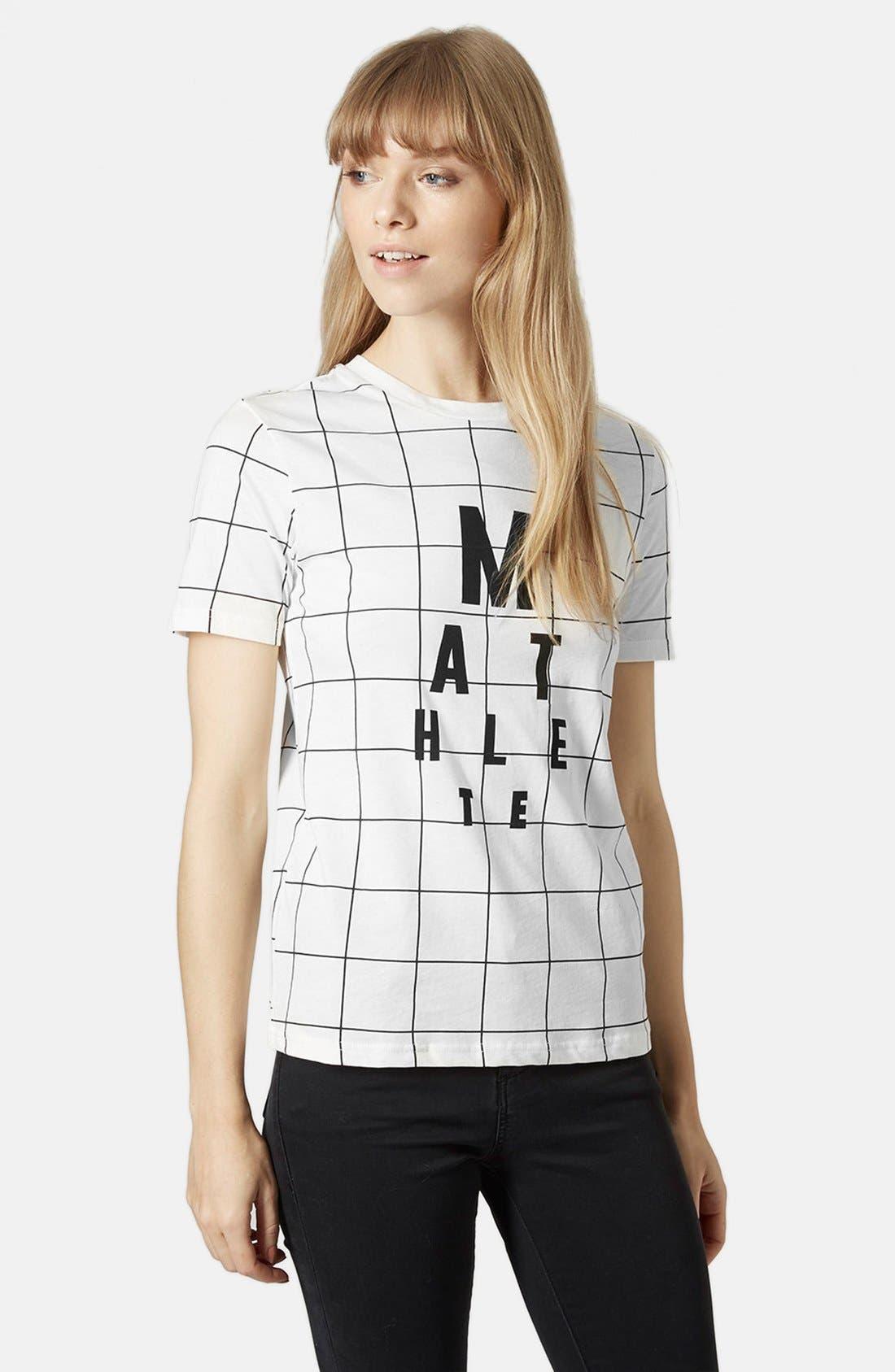 Alternate Image 1 Selected - Topshop Mathlete Grid Tee