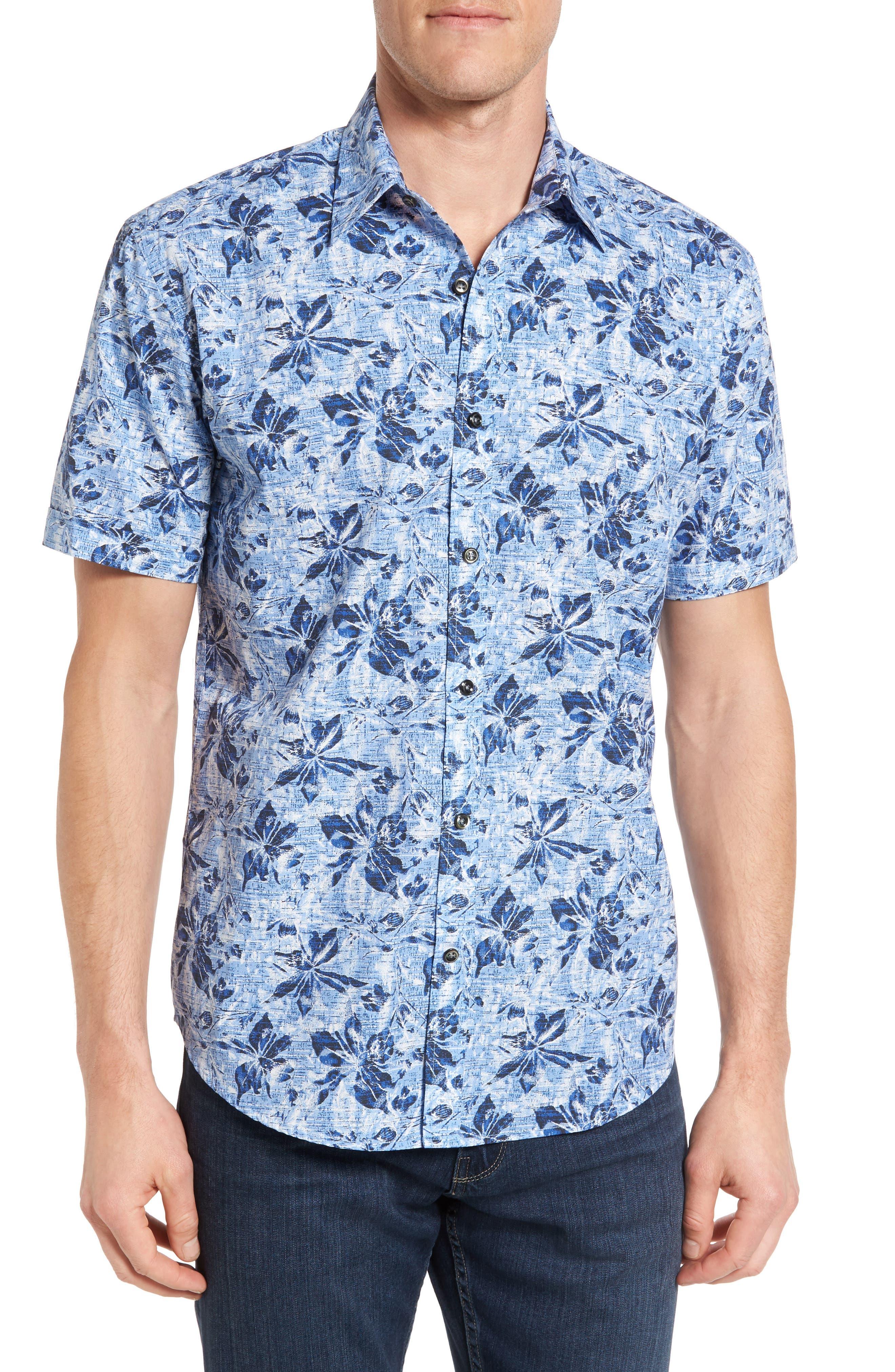 James Campbell Fogler Regular Fit Short Sleeve Sport Shirt