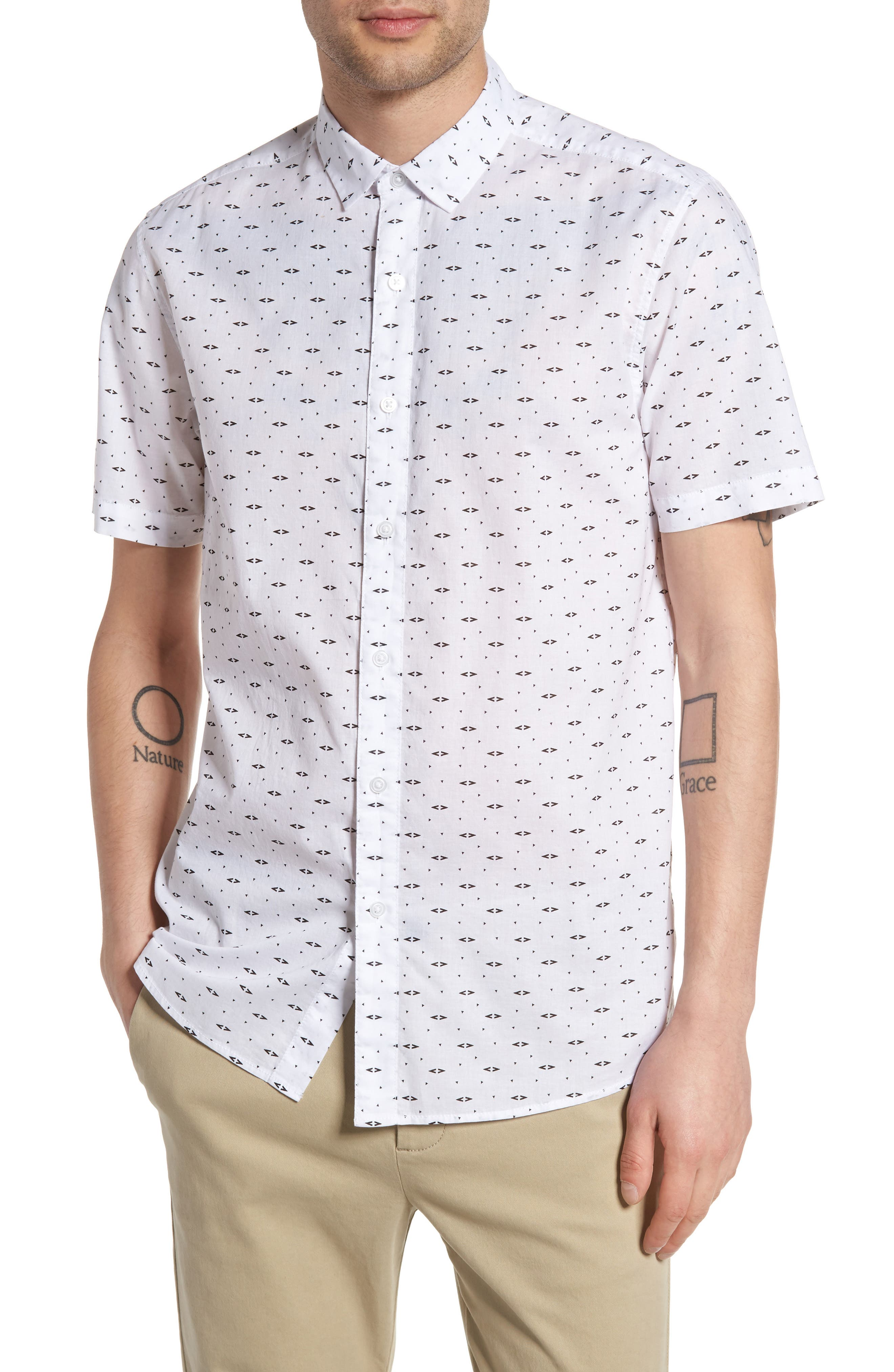Topman Arrow Print Shirt
