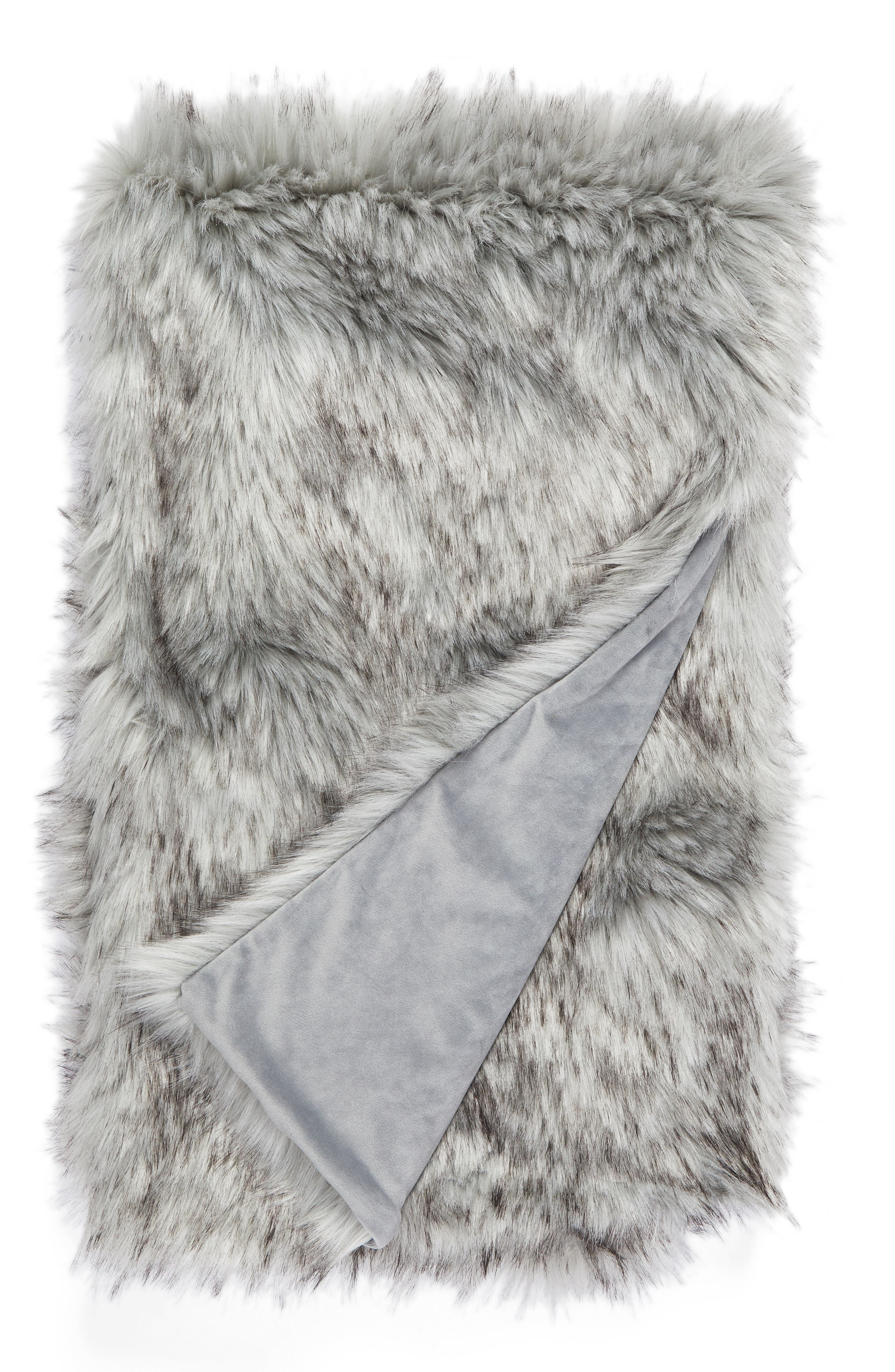 Nordstrom at Home Fox Faux Fur Throw Blanket