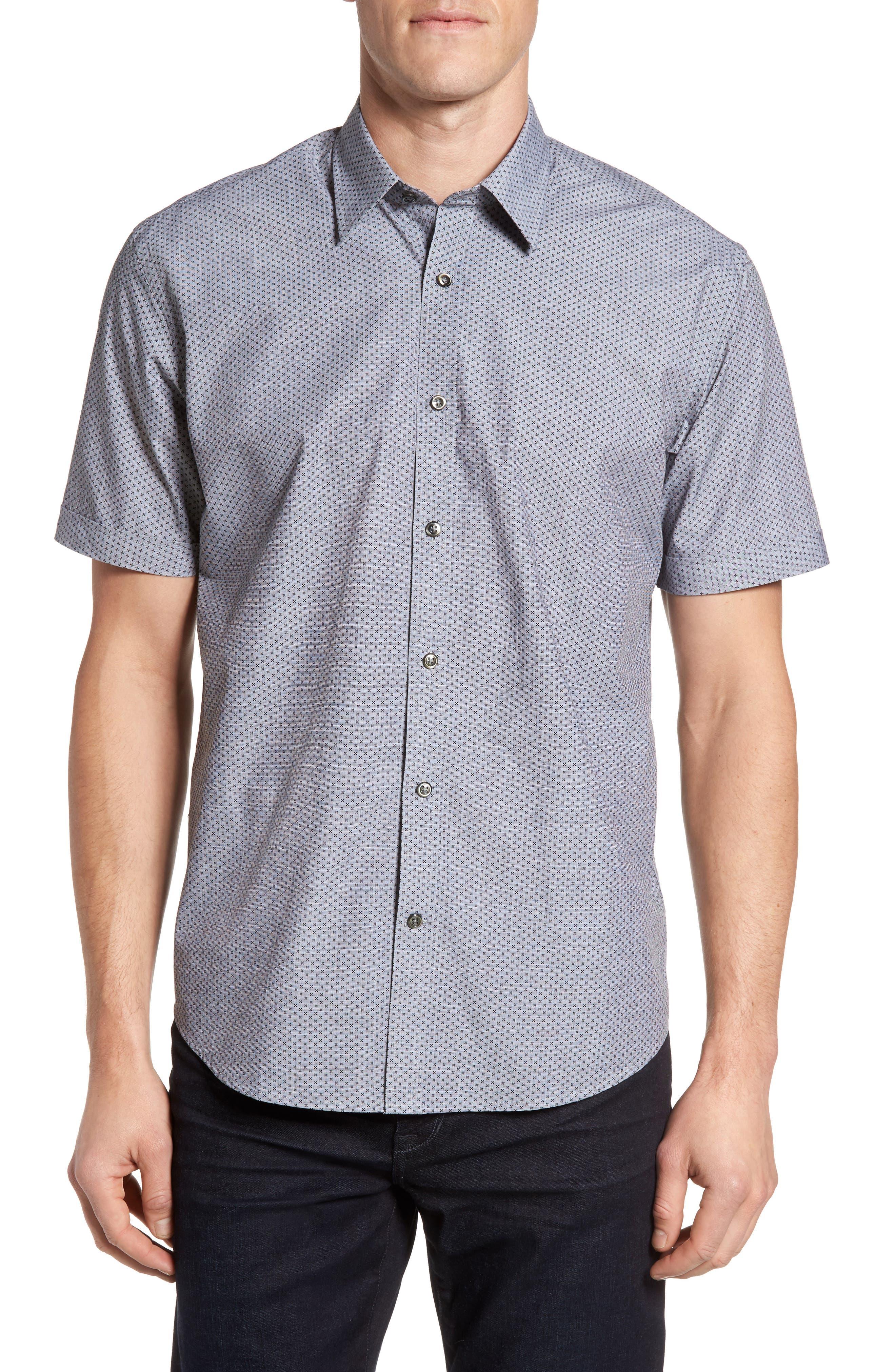 James Campbell Iona Regular Fit Short Sleeve Sport Shirt