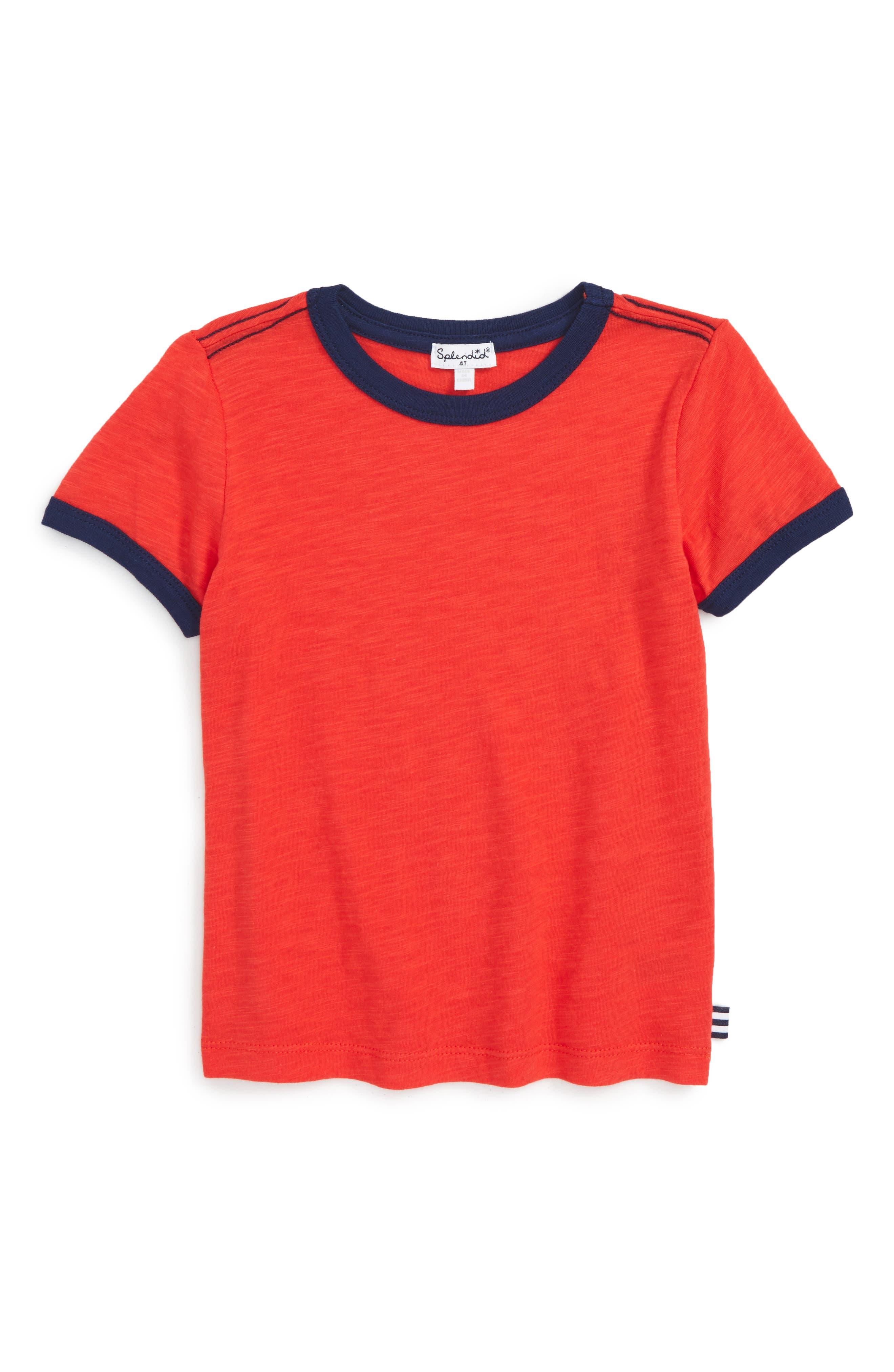 Splendid Ringer T-Shirt (Toddler Boys & Little Boys)