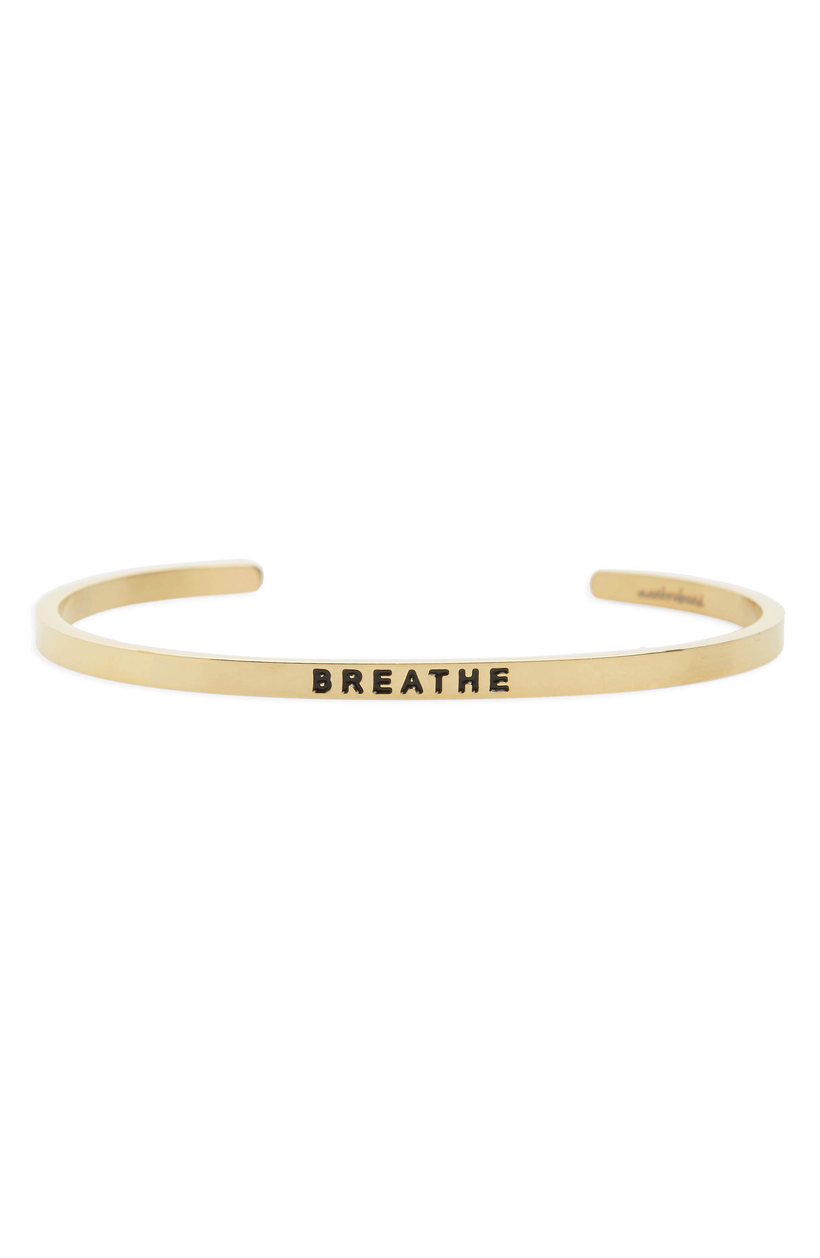 MantraBand Breathe Engraved Cuff