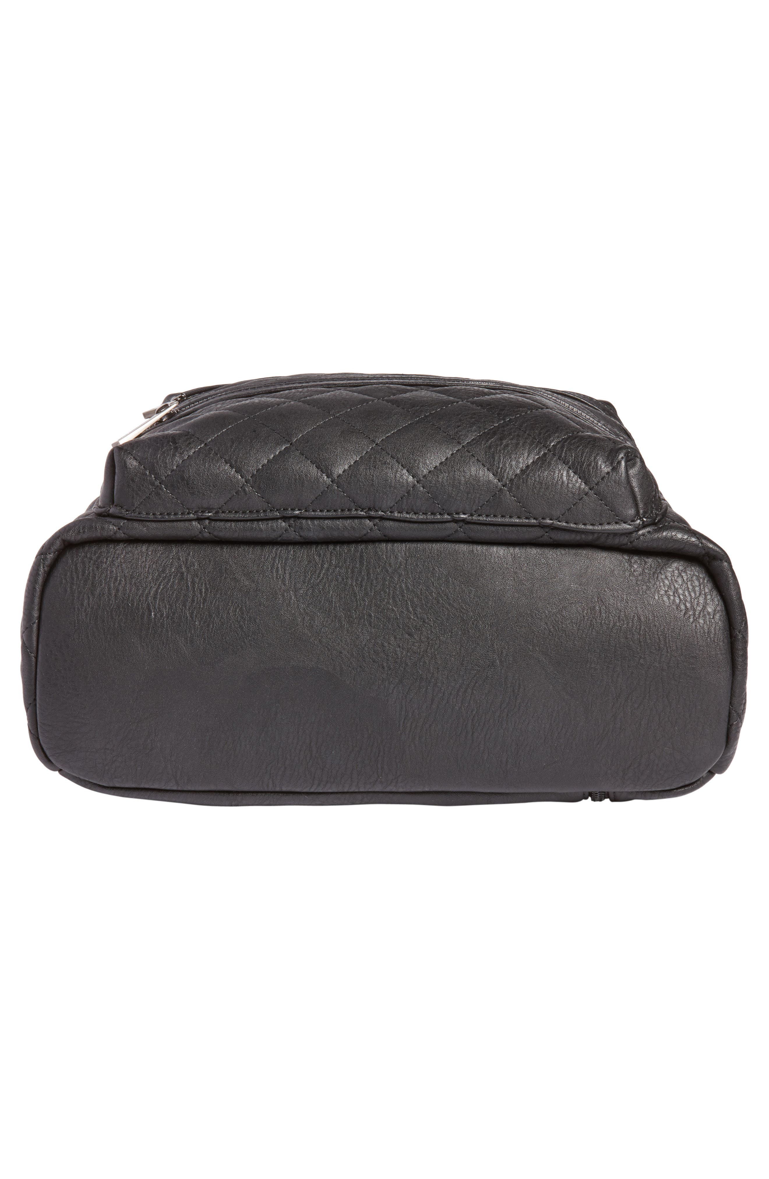 Alternate Image 5  - The Honest Company City Quilted Faux Leather Diaper Backpack