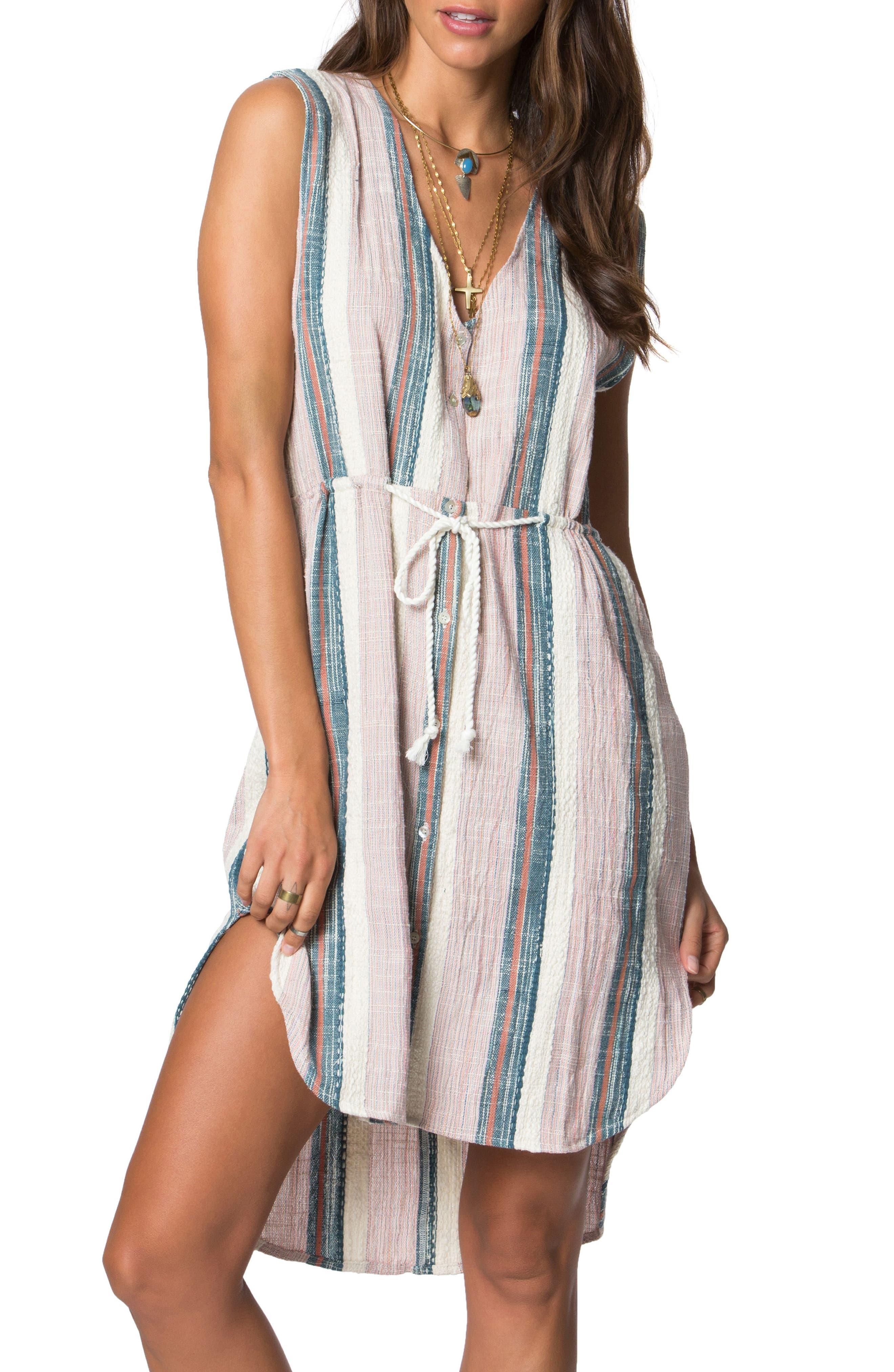 O'Neill Zeezee Stripe Cotton Dress